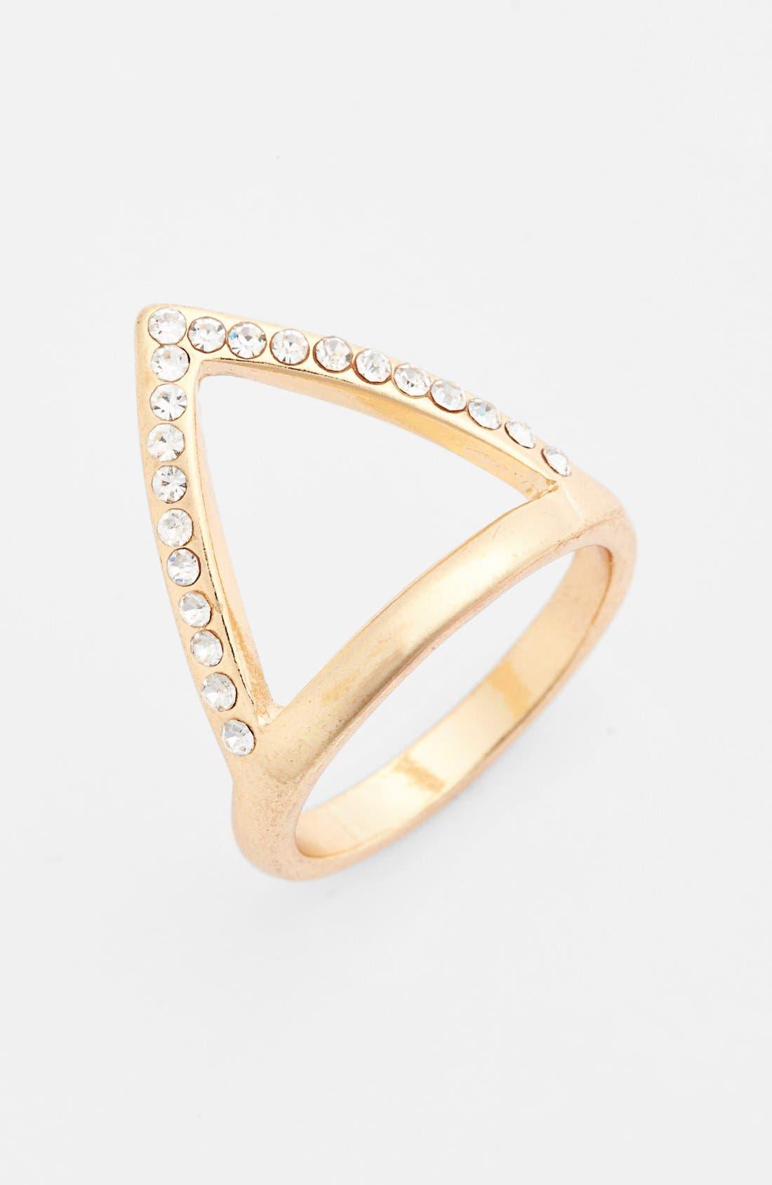 Main Image - Tildon Pavé Triangle Ring