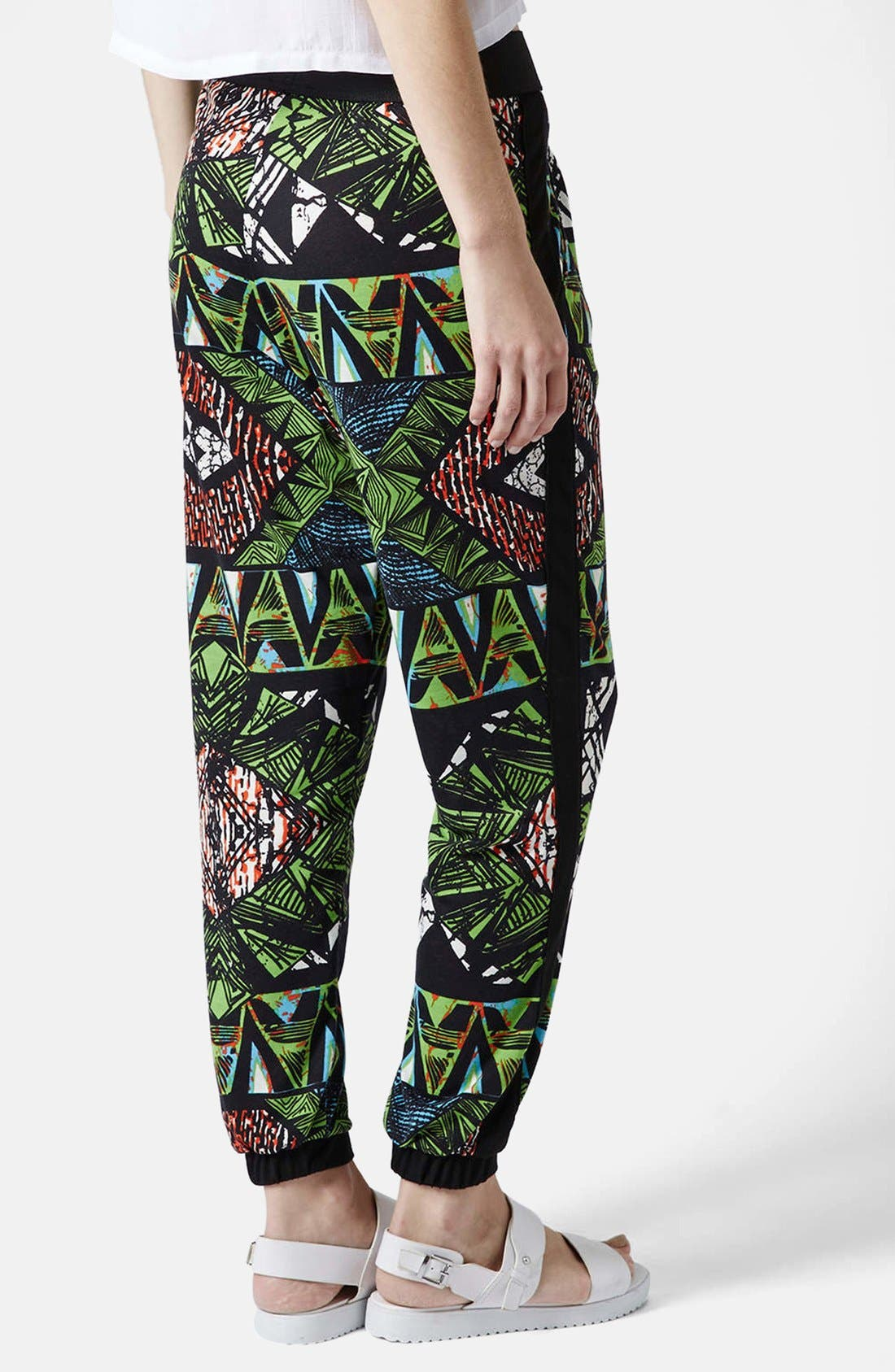 Alternate Image 2  - Topshop Geo Print Track Pants