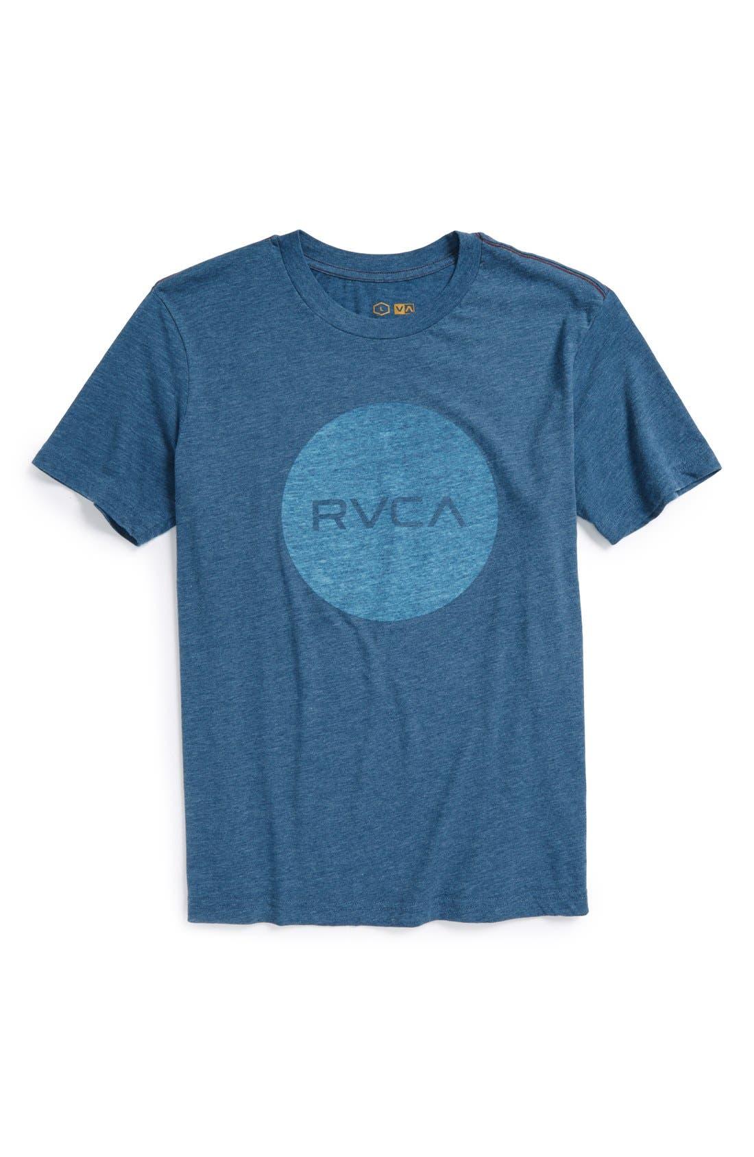 Alternate Image 1 Selected - RVCA 'Motors' Reverse Screenprint T-Shirt (Big Boys)