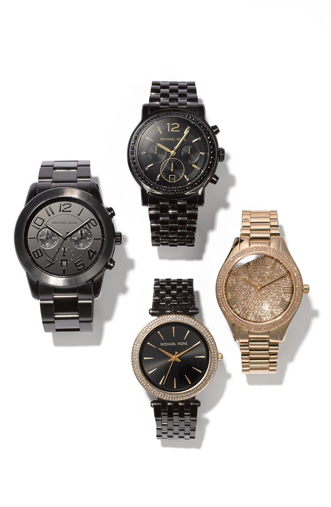Alternate Image 7  - Michael Kors 'Darci' Crystal Bezel Bracelet Watch, 39mm