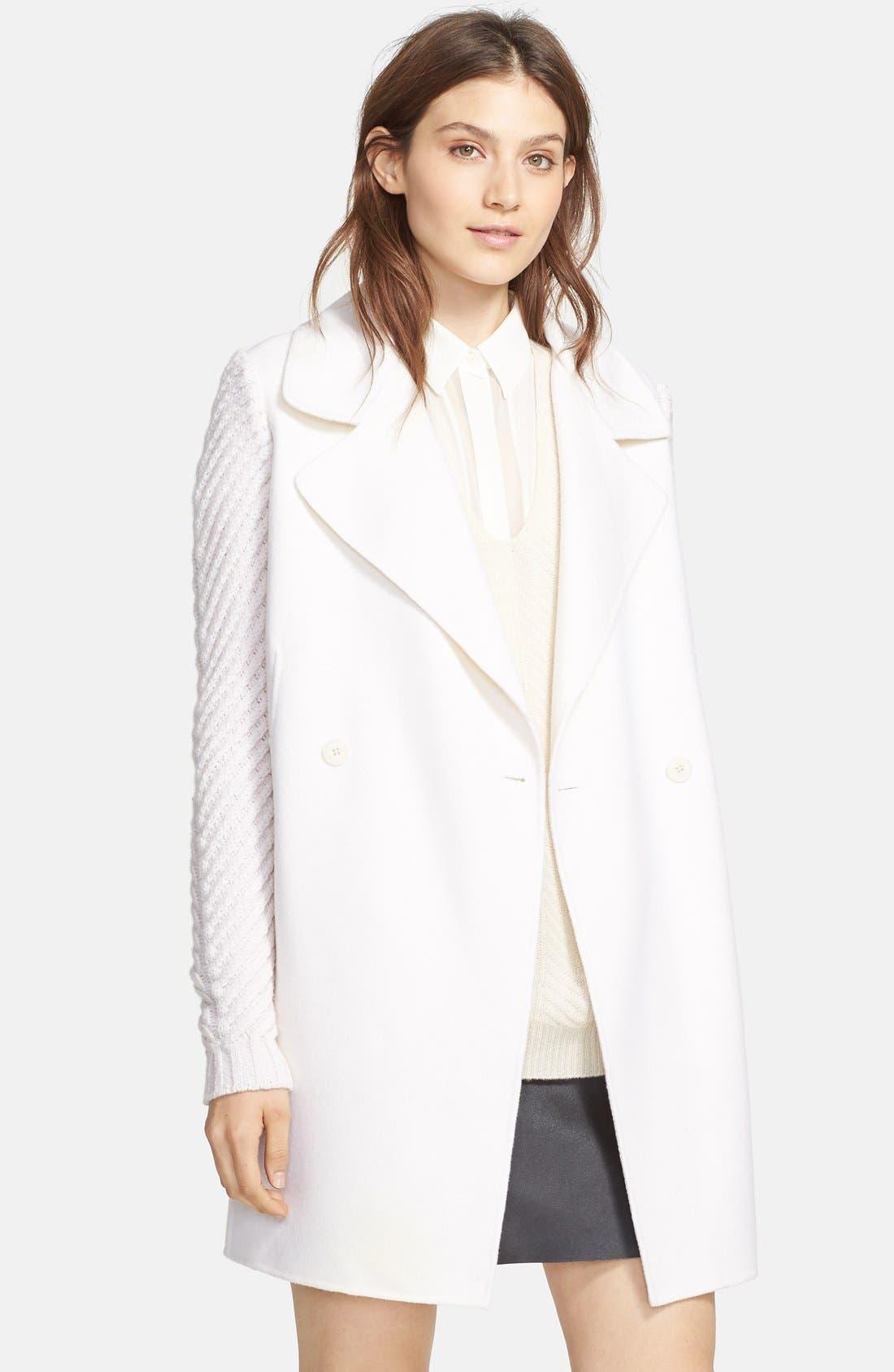 Main Image - Vince Sweater Sleeve Wool Blend Coat