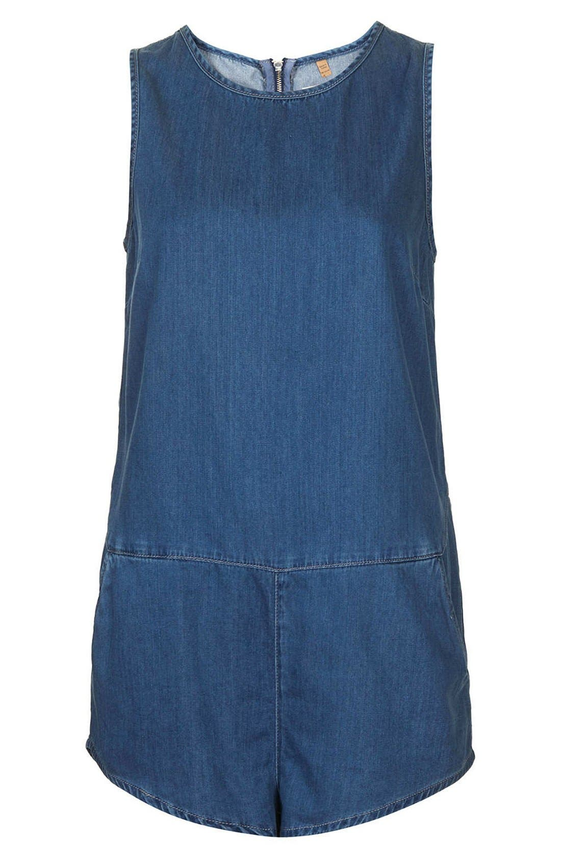Alternate Image 3  - Topshop Chambray Romper