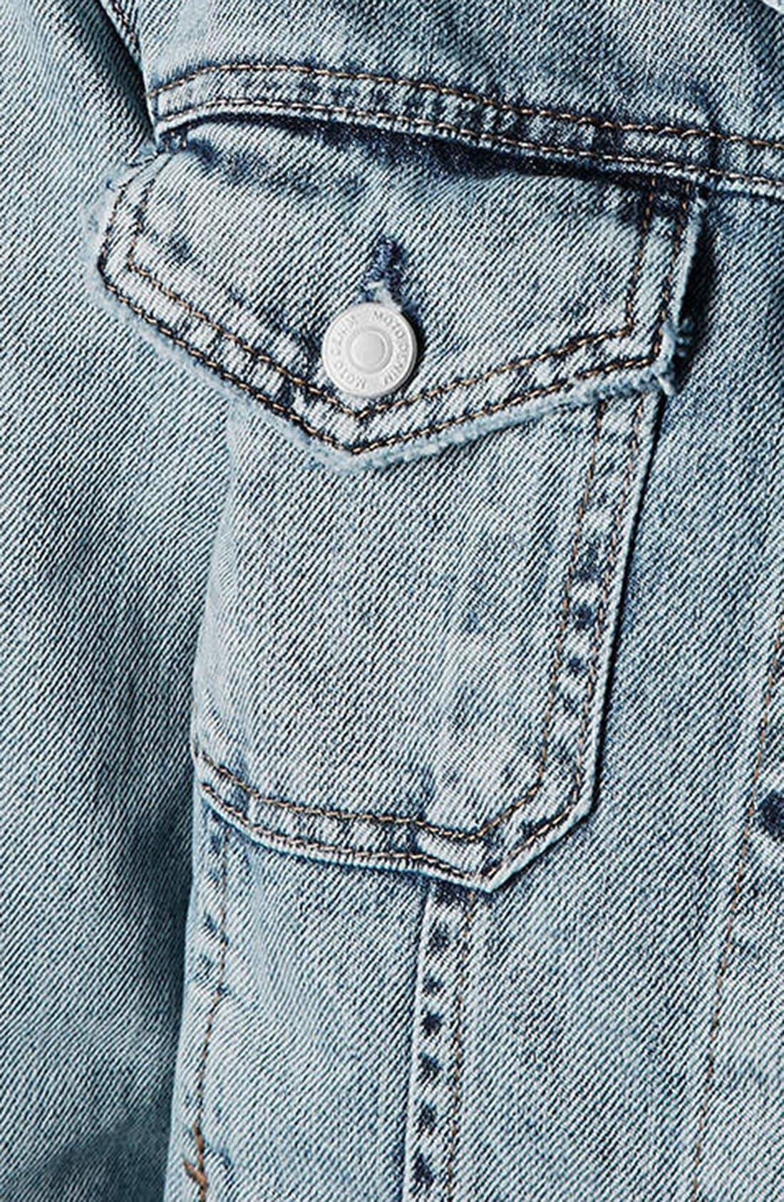 Alternate Image 4  - Topshop Moto Oversized Denim Jacket