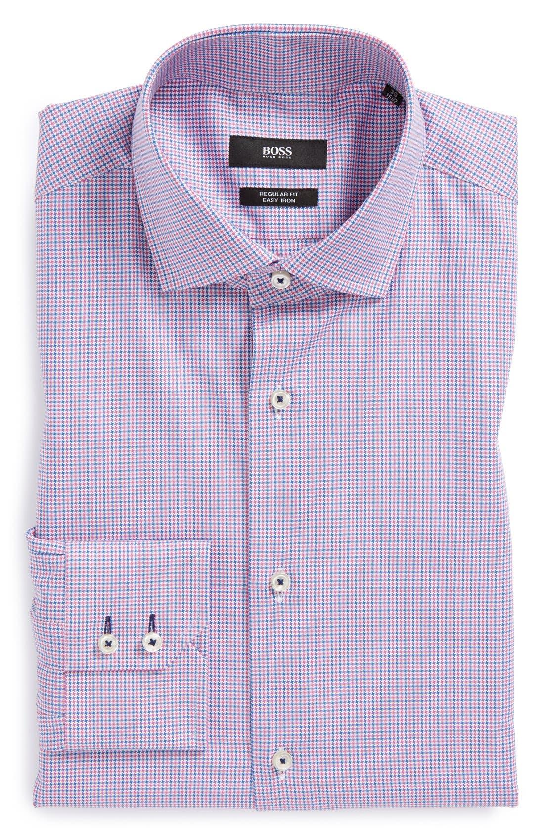 Main Image - BOSS HUGO BOSS 'Gorman' Easy Iron WW Regular Fit Houndstooth Dress Shirt