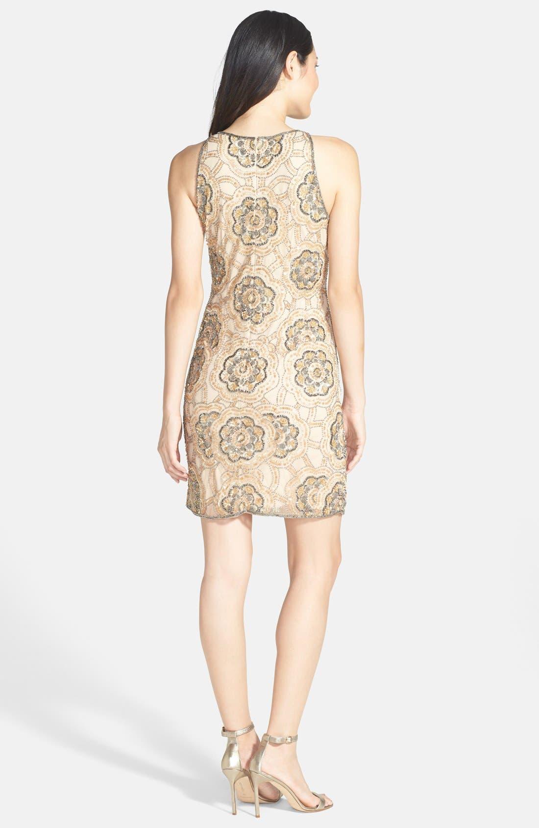Alternate Image 2  - Adrianna Papell Beaded Cutaway Sheath Dress