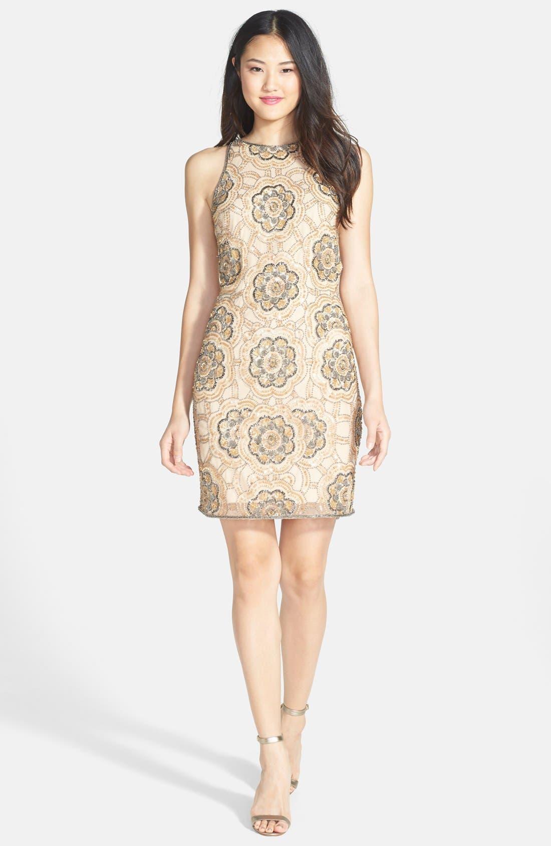 Alternate Image 3  - Adrianna Papell Beaded Cutaway Sheath Dress