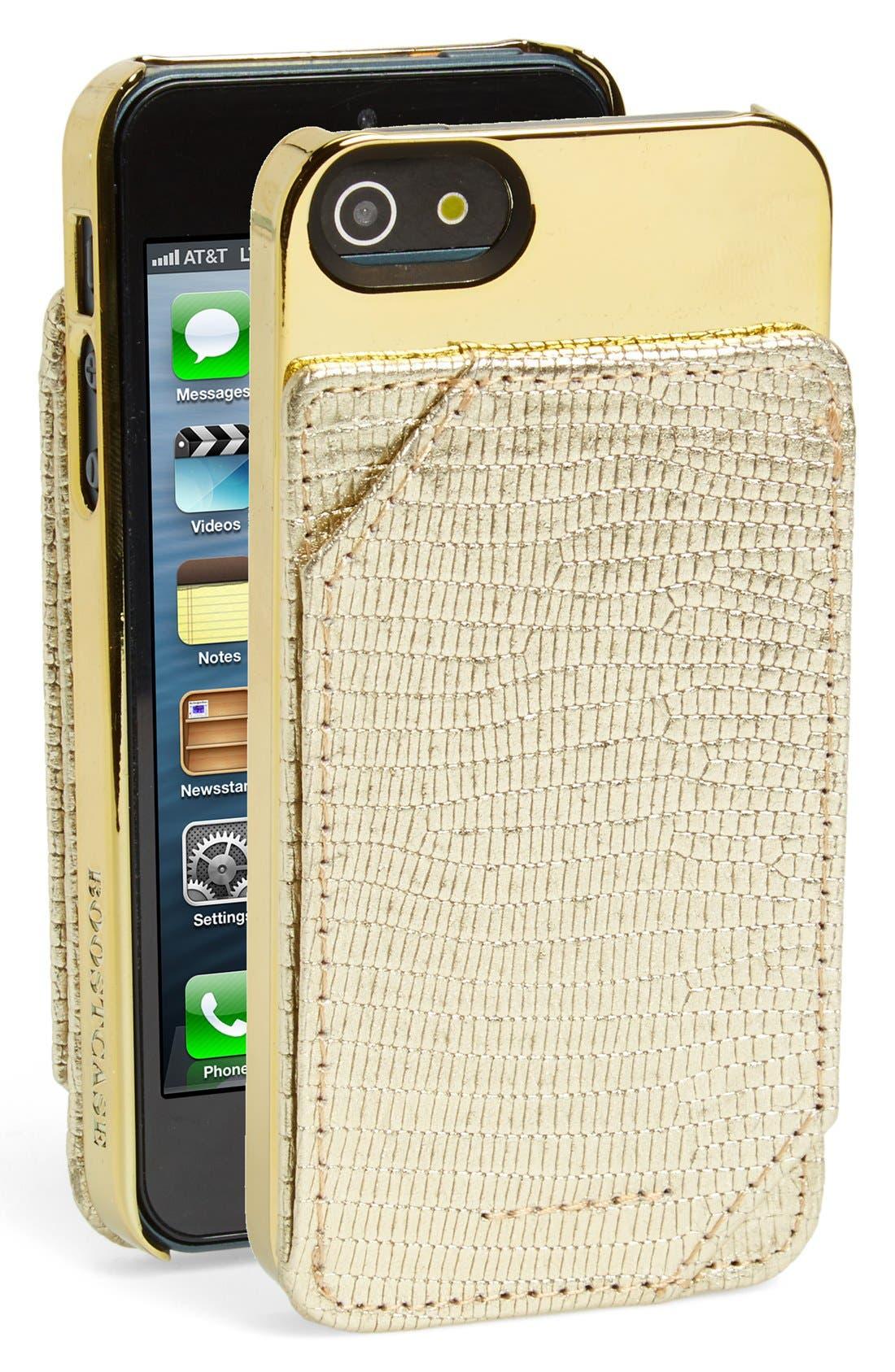 Alternate Image 1 Selected - Boostcase 'Lizard' iPhone 5 & 5s Snap Case & Detachable Card Holder
