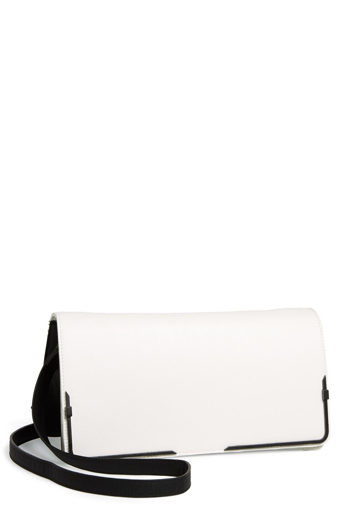 Alternate Image 1 Selected - French Connection 'Prim Lady' Faux Leather Clutch