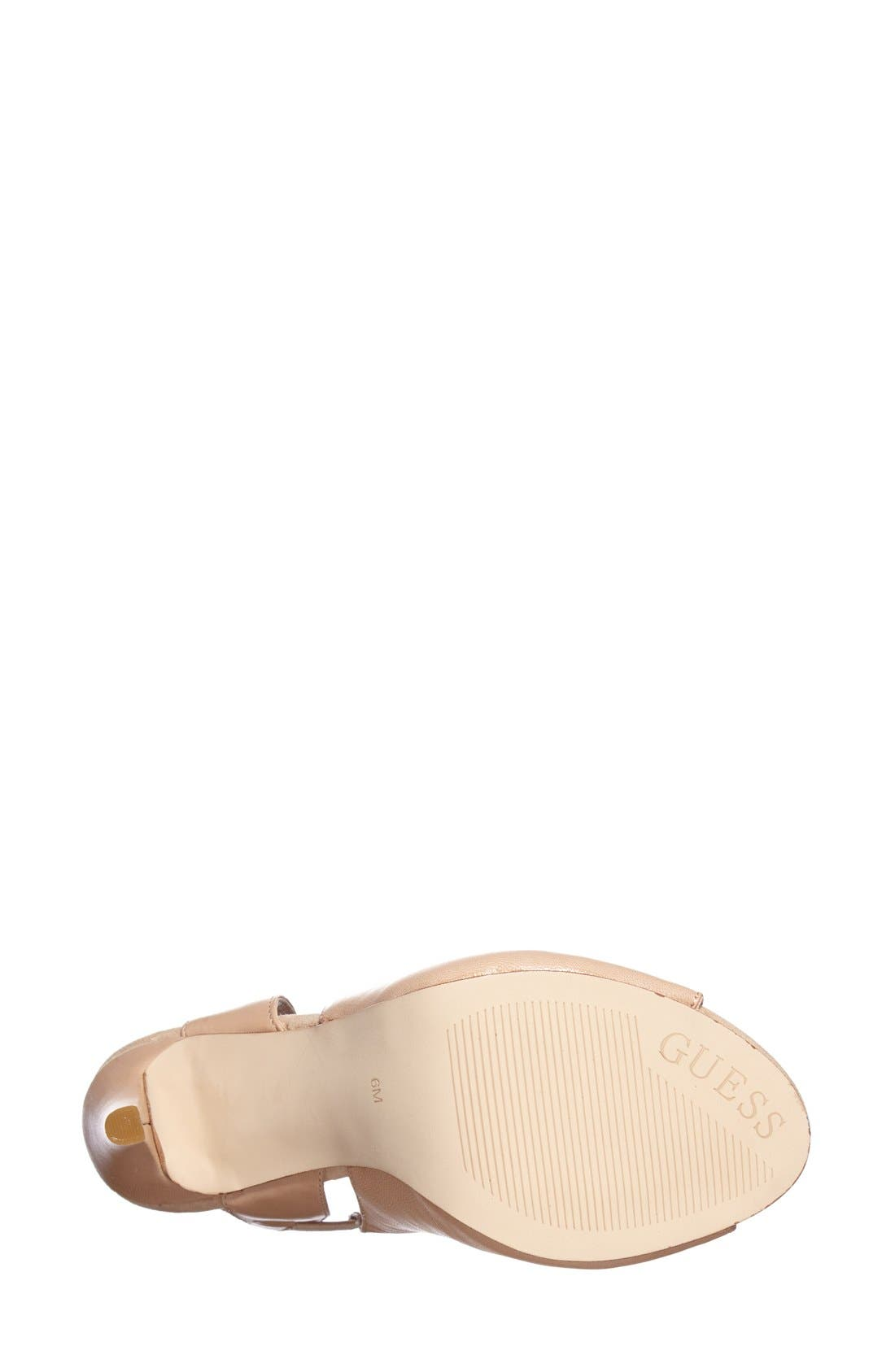 Alternate Image 4  - GUESS 'Chica' Strappy Sandal (Women)