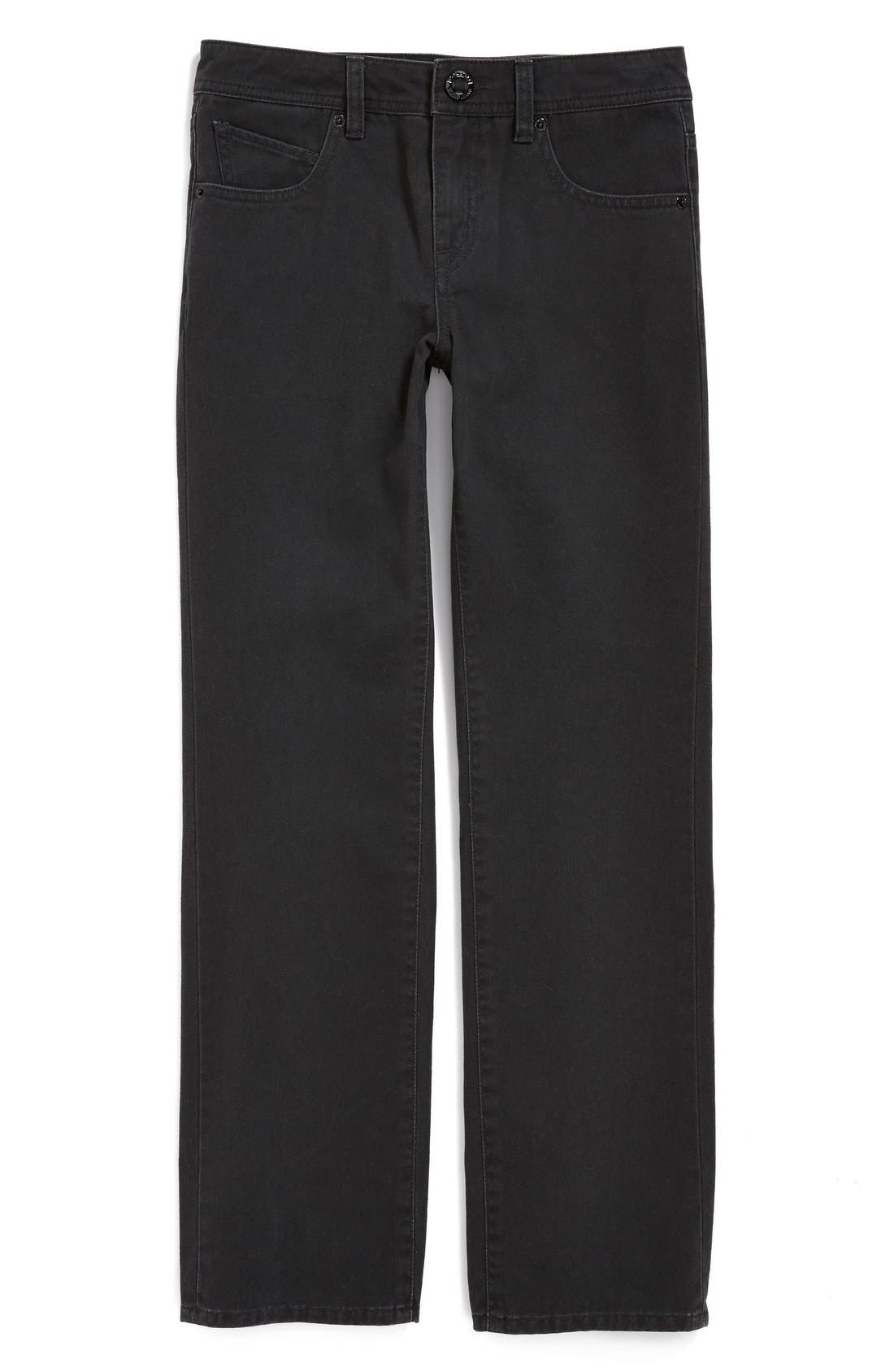 Alternate Image 1 Selected - Volcom 'Vorta' Slim Straight Leg Cotton Twill Pants (Toddler Boys & Little Boys) (Online Only)