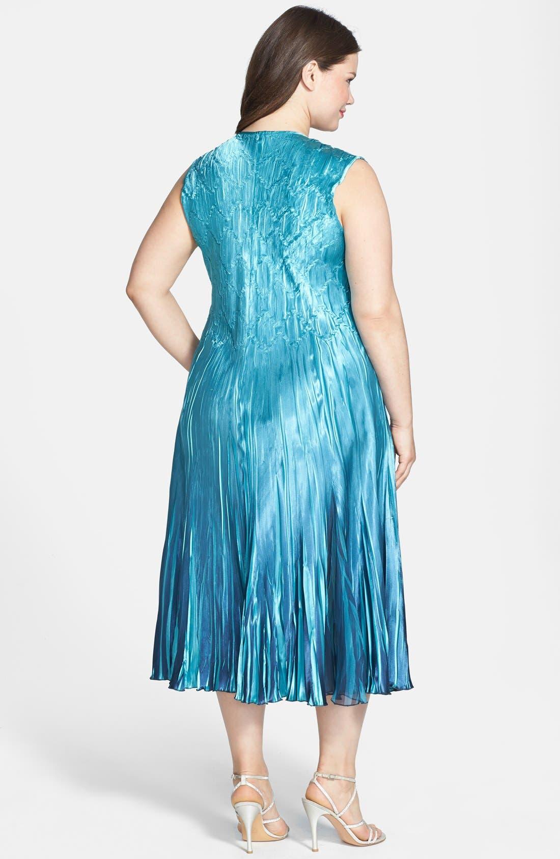 Alternate Image 3  - Komarov Chiffon & Charmeuse Dress with Jacket (Plus Size)