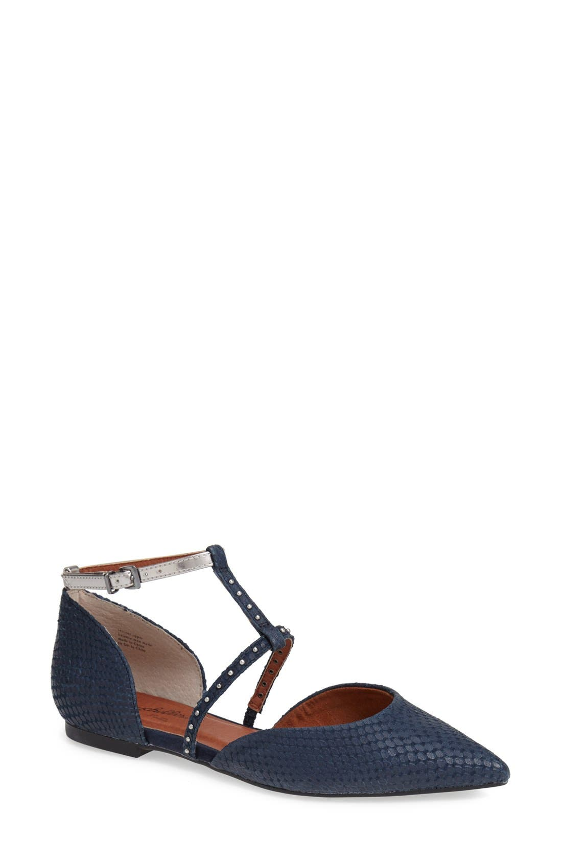Alternate Image 1 Selected - Seychelles 'Uncovered' Leather Ankle Strap Flat (Women)