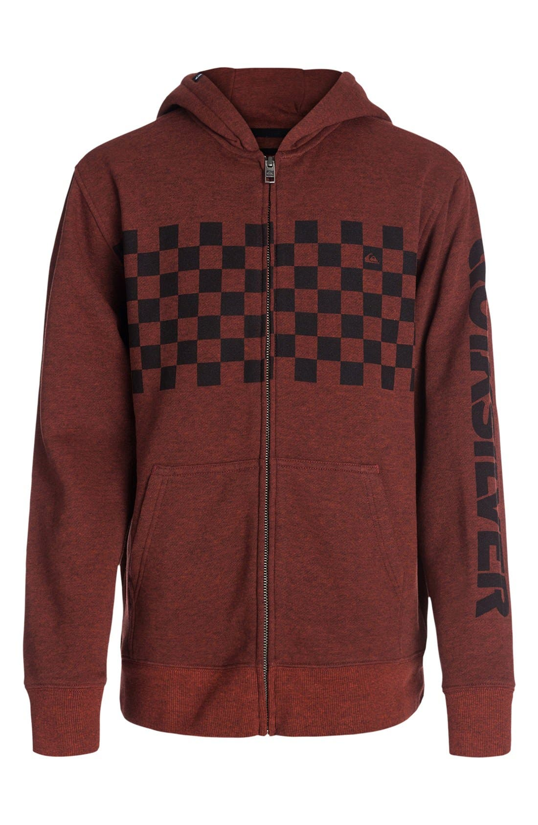 Alternate Image 1 Selected - Quiksilver 'Checker' Hoodie (Toddler Boys & Little Boys)