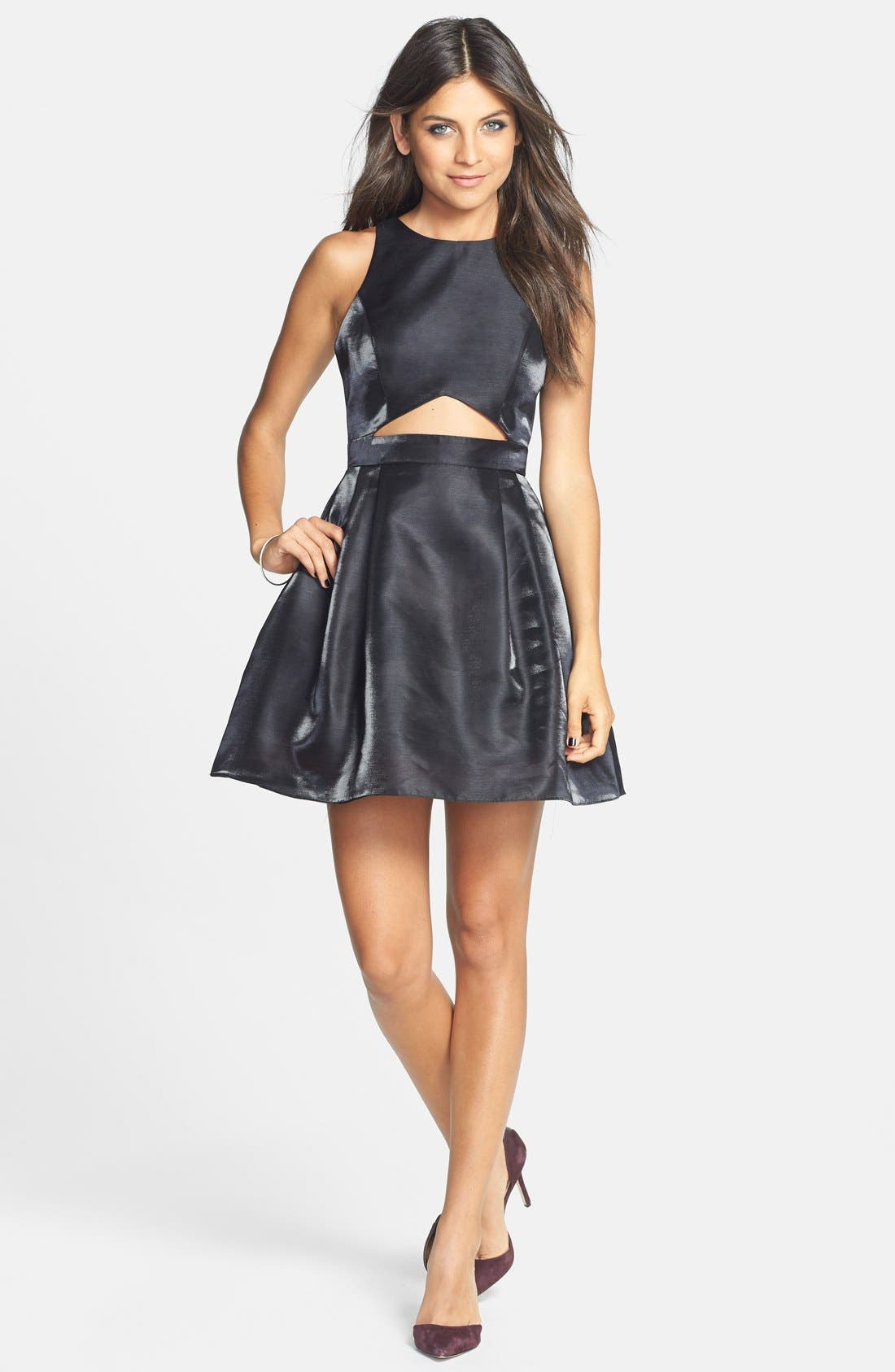Alternate Image 3  - Hailey Logan Cutout Fit & Flare Dress (Juniors)