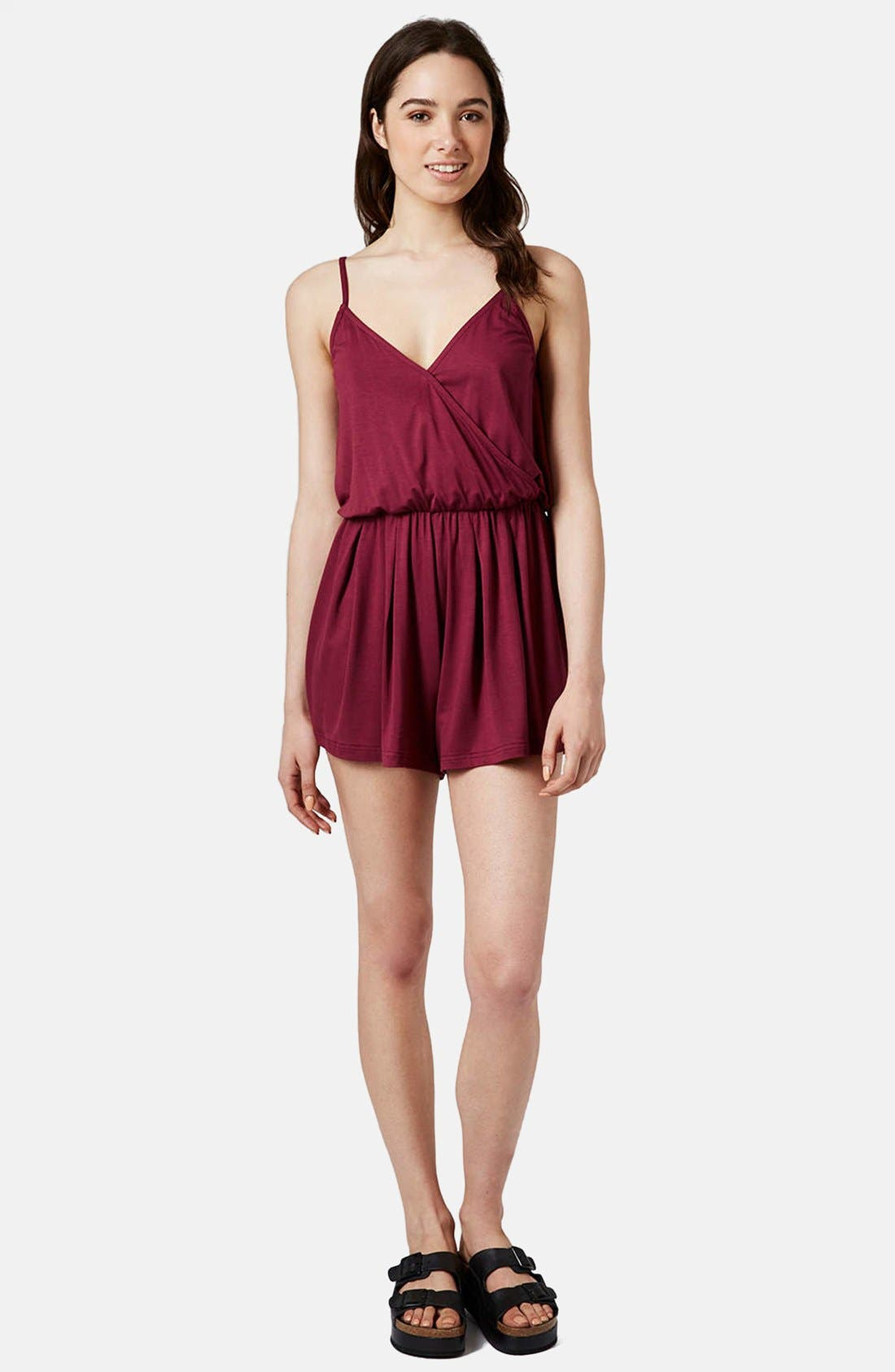 Alternate Image 1 Selected - Topshop Surplice Jersey Romper