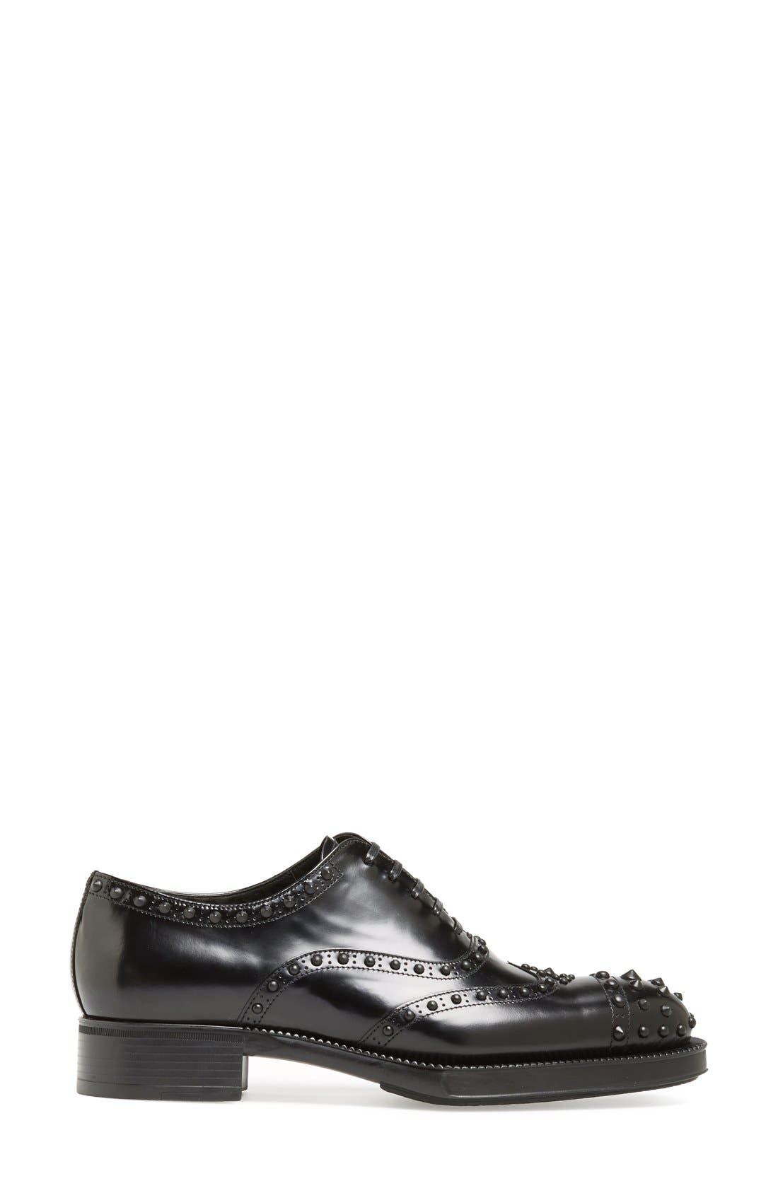 Alternate Image 4  - Prada Studded Wingtip Oxford (Women)