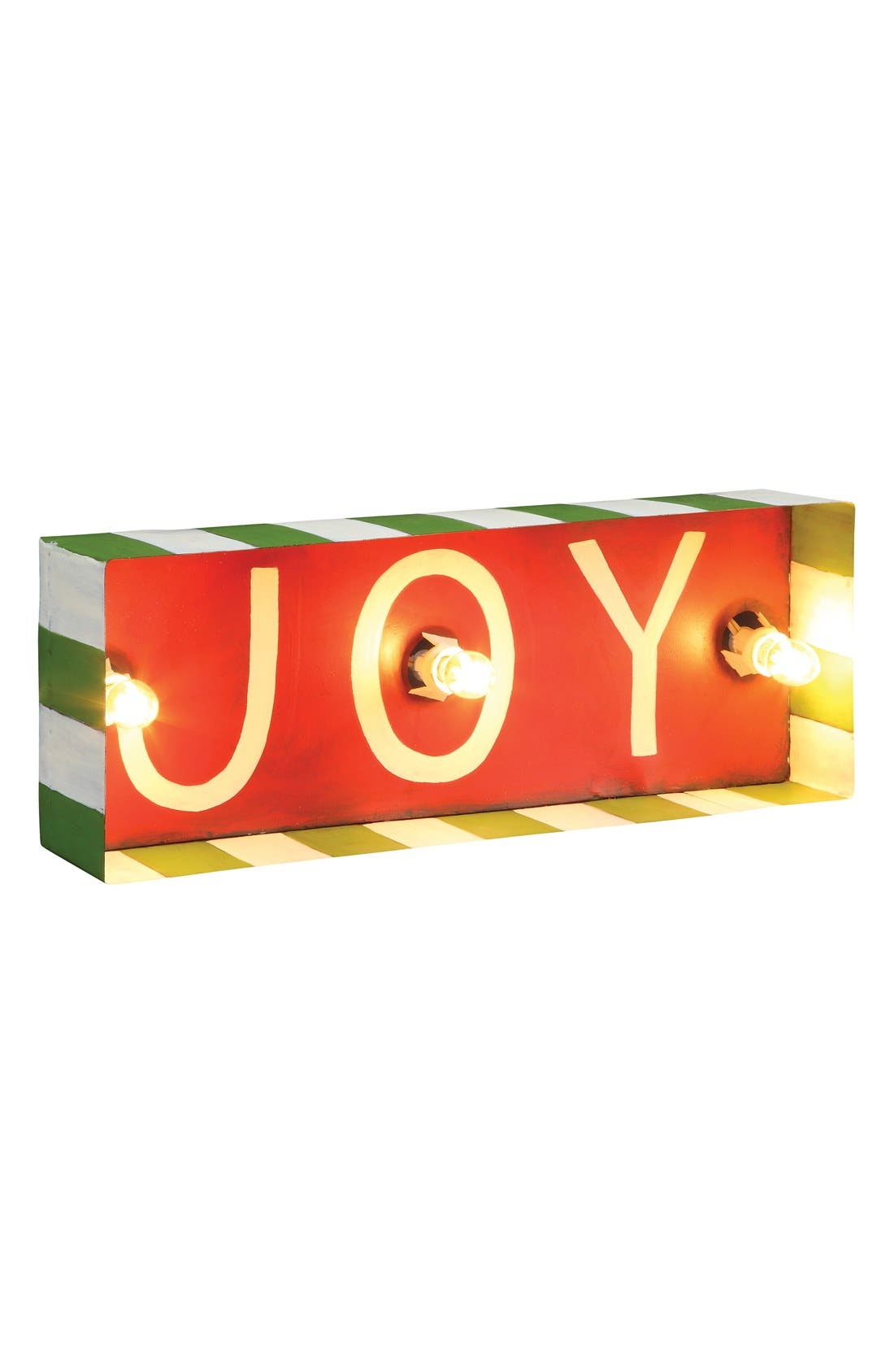 Alternate Image 1 Selected - Roman 'Joy' Lighted Box Sign
