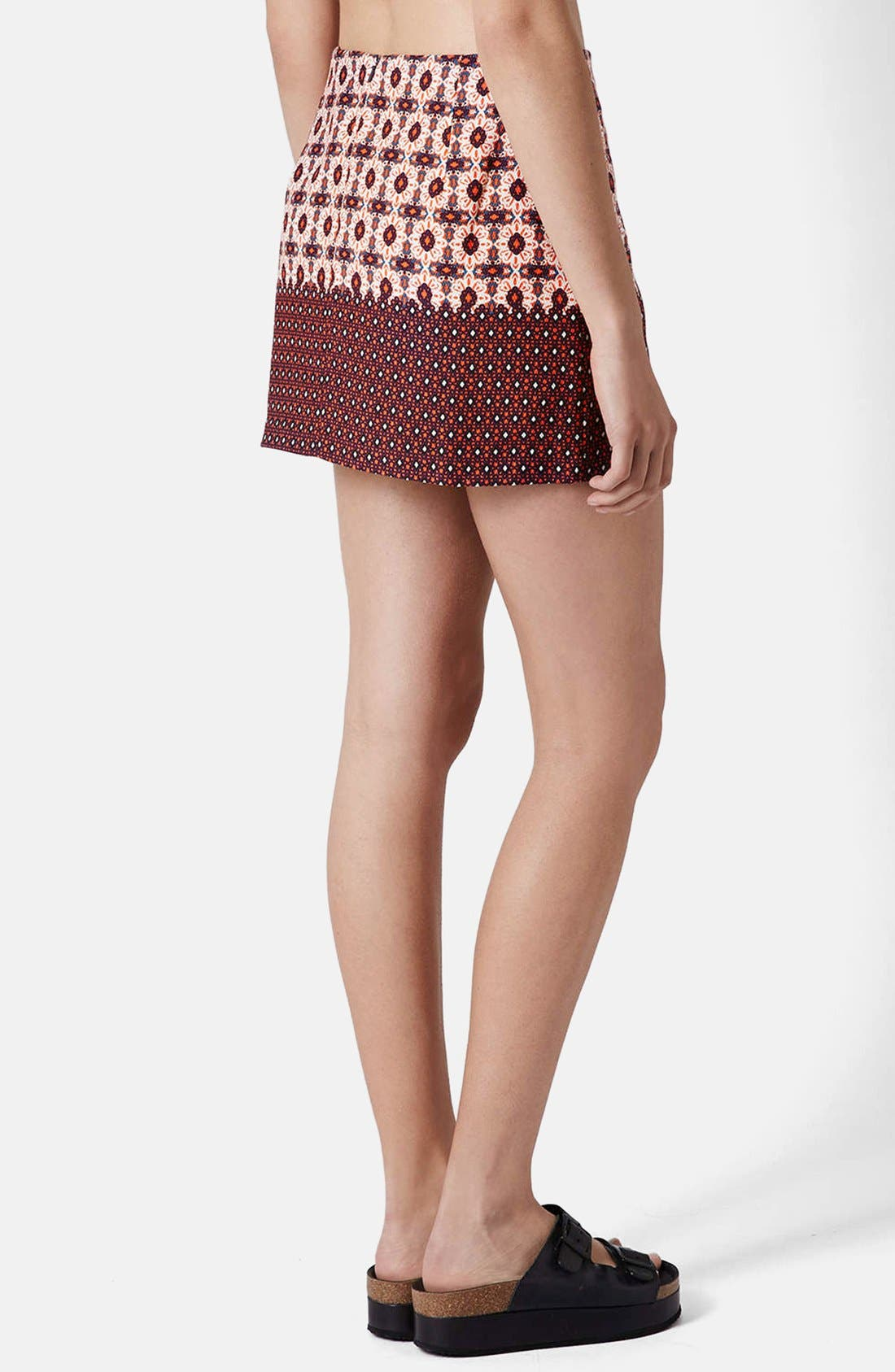 Alternate Image 2  - Topshop Mixed Tile Print Pelmet Skirt
