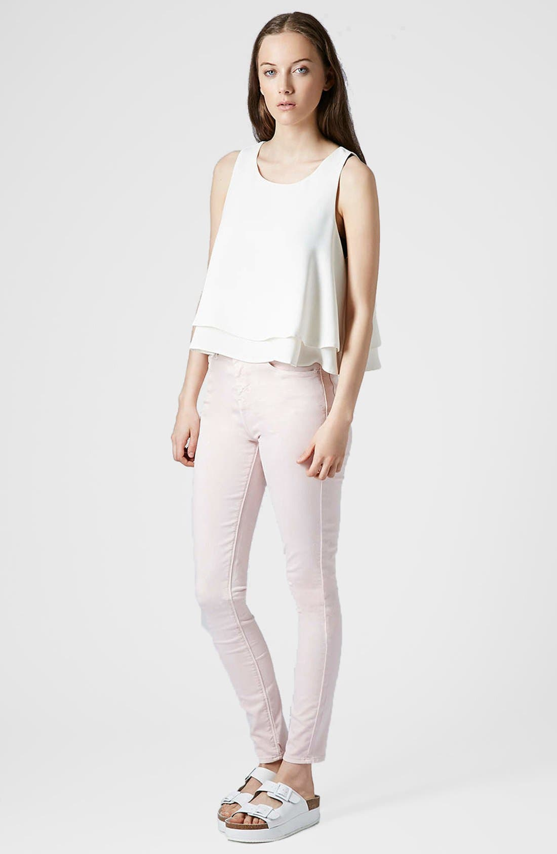 Alternate Image 5  - Topshop Double Hem Crop Tank