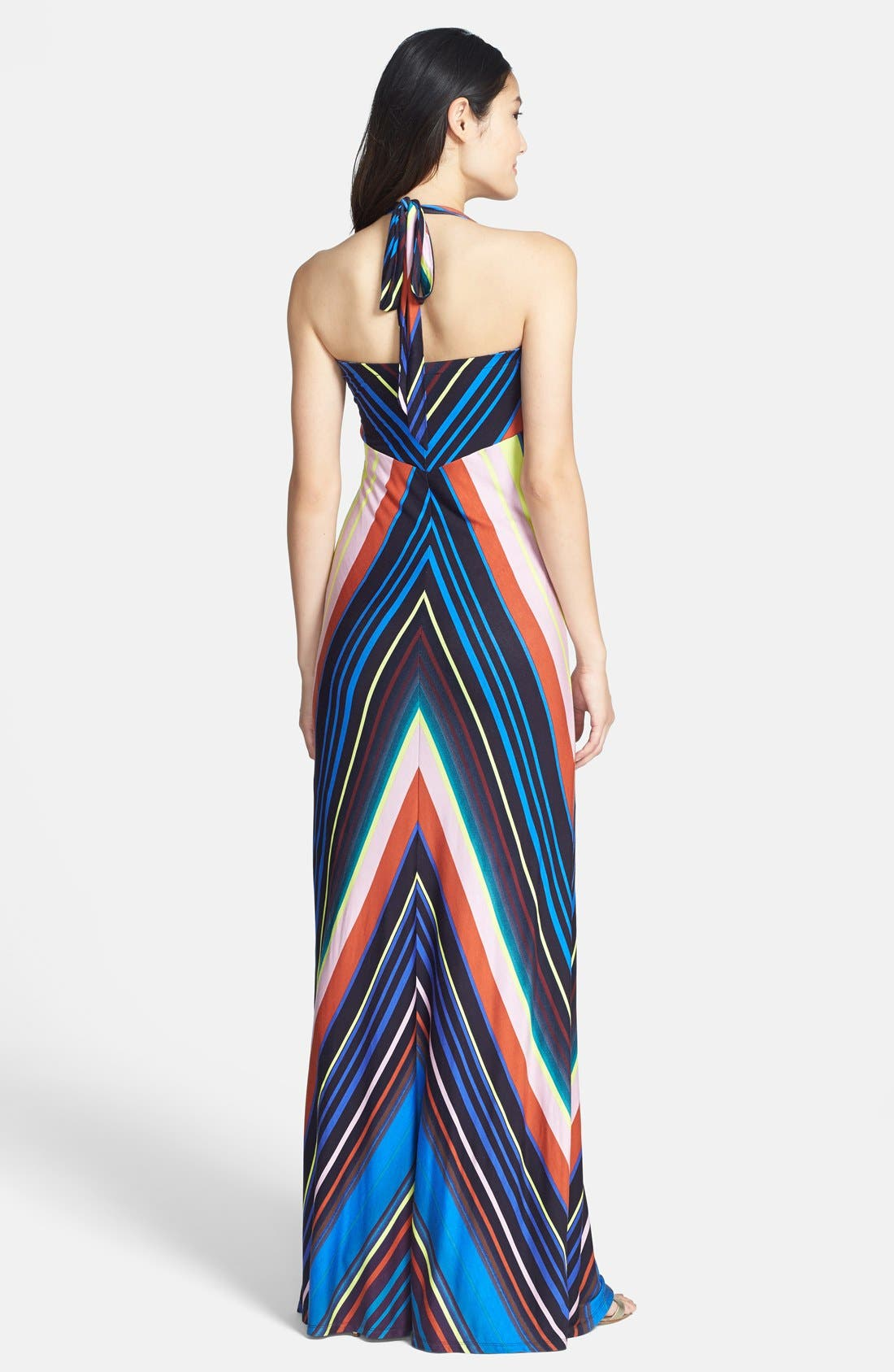 Alternate Image 2  - Felicity & Coco Stripe Jersey Halter Dress (Regular & Petite) (Nordstrom Exclusive)