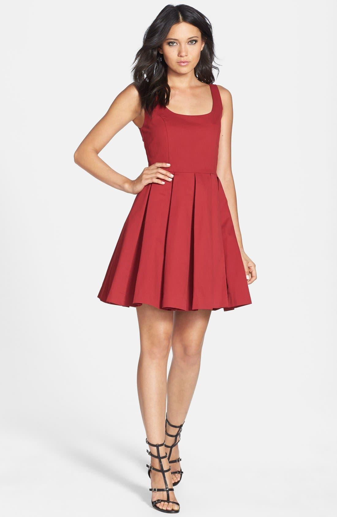 Alternate Image 3  - BB Dakota 'Dane' Pleat Fit & Flare Dress