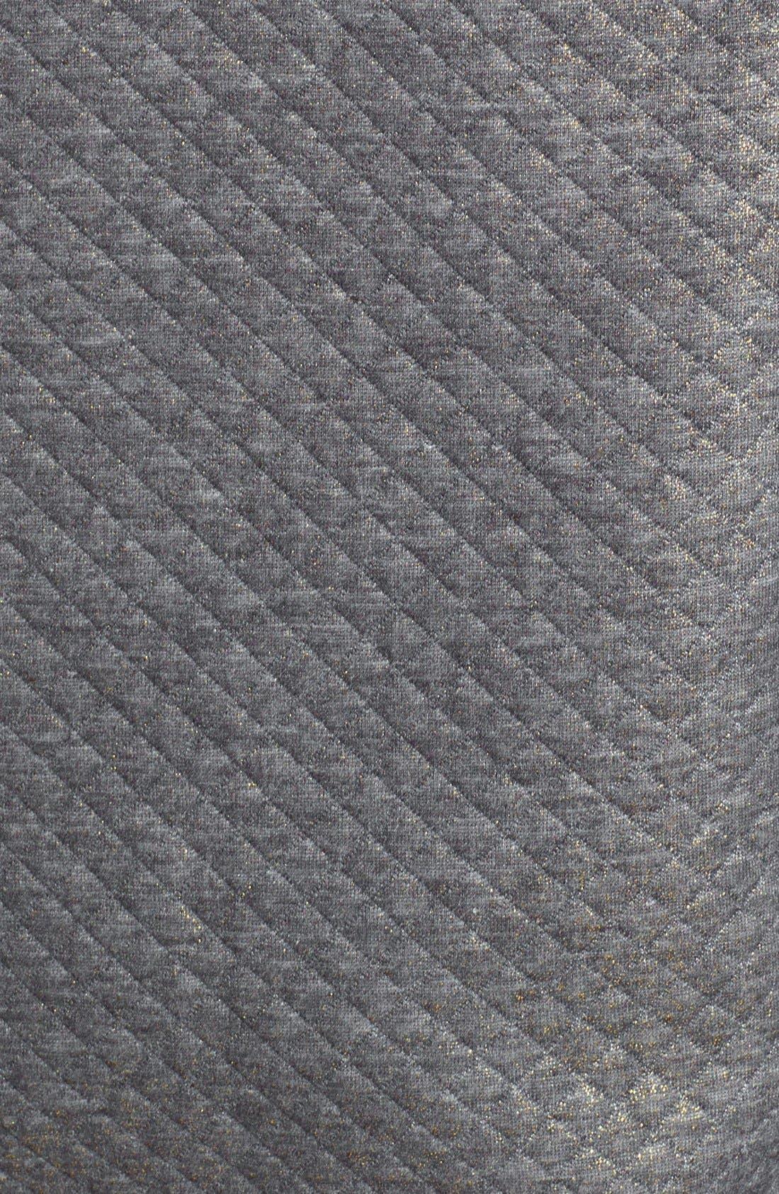 Alternate Image 4  - Halogen® Foiled Sweatshirt (Petite)
