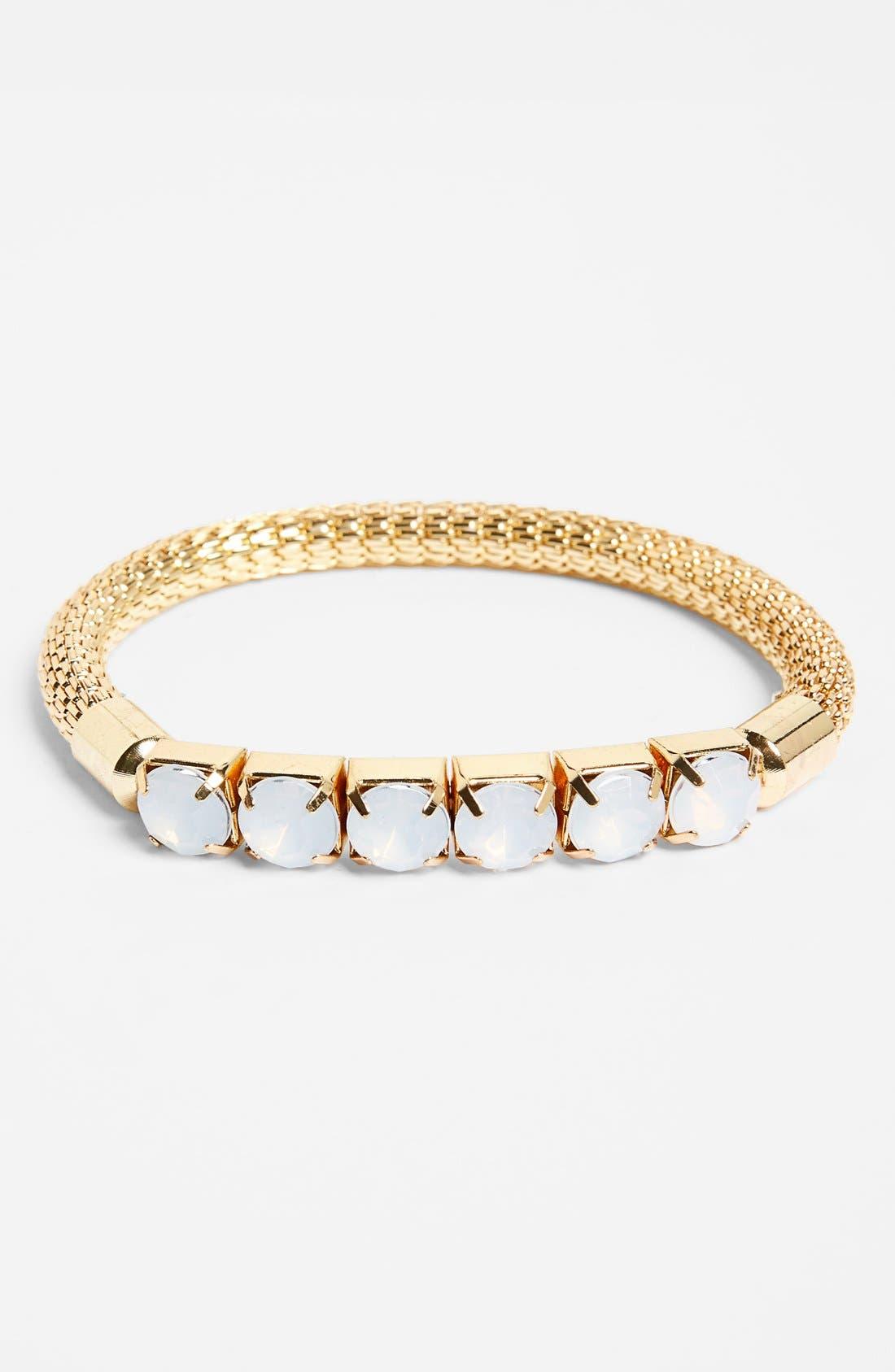 Alternate Image 1 Selected - Spring Street Faceted Stone Stretch Bracelet