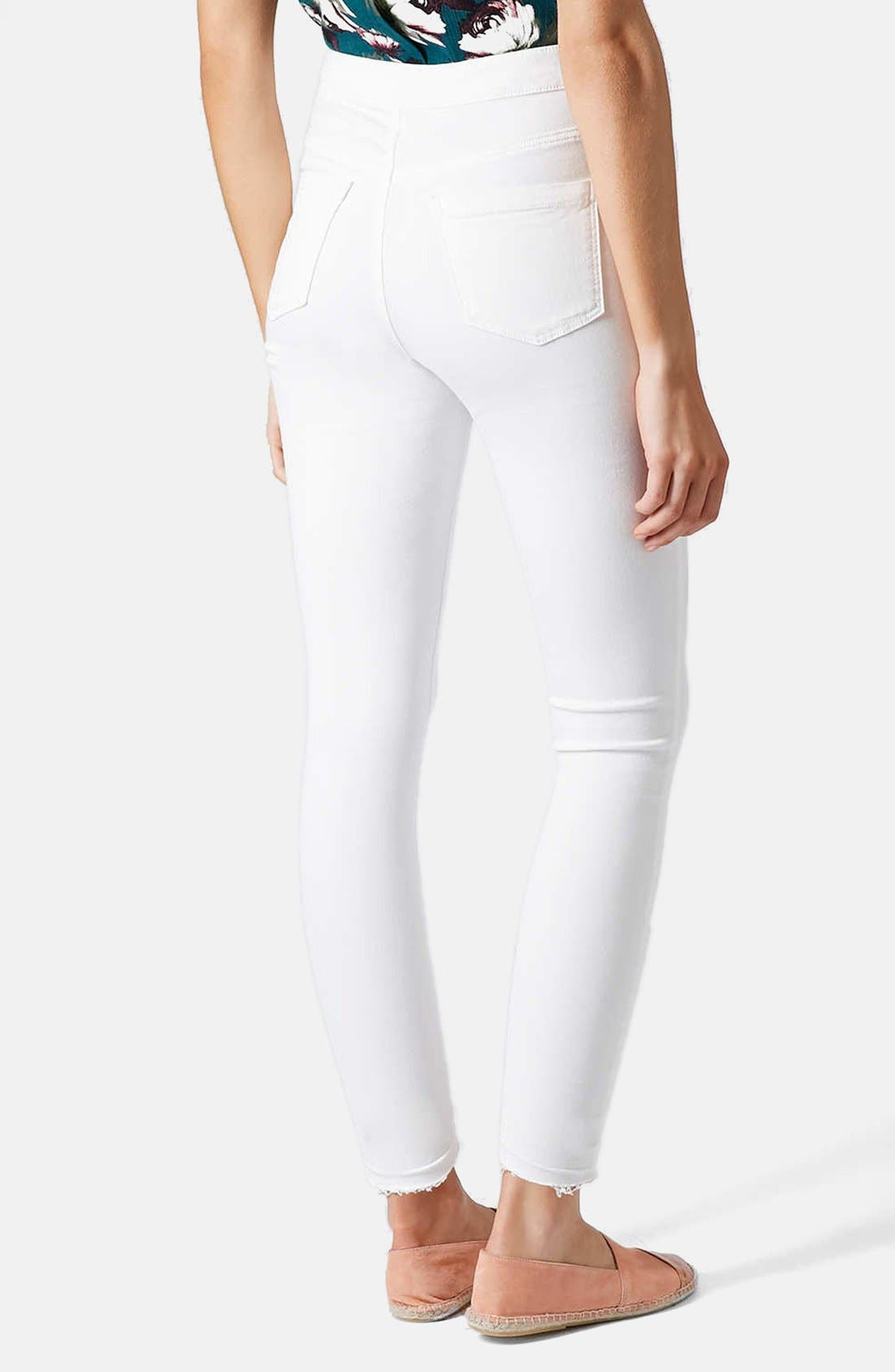 Alternate Image 2  - Topshop Moto 'Joni' High Rise Crop Skinny Jeans (White)