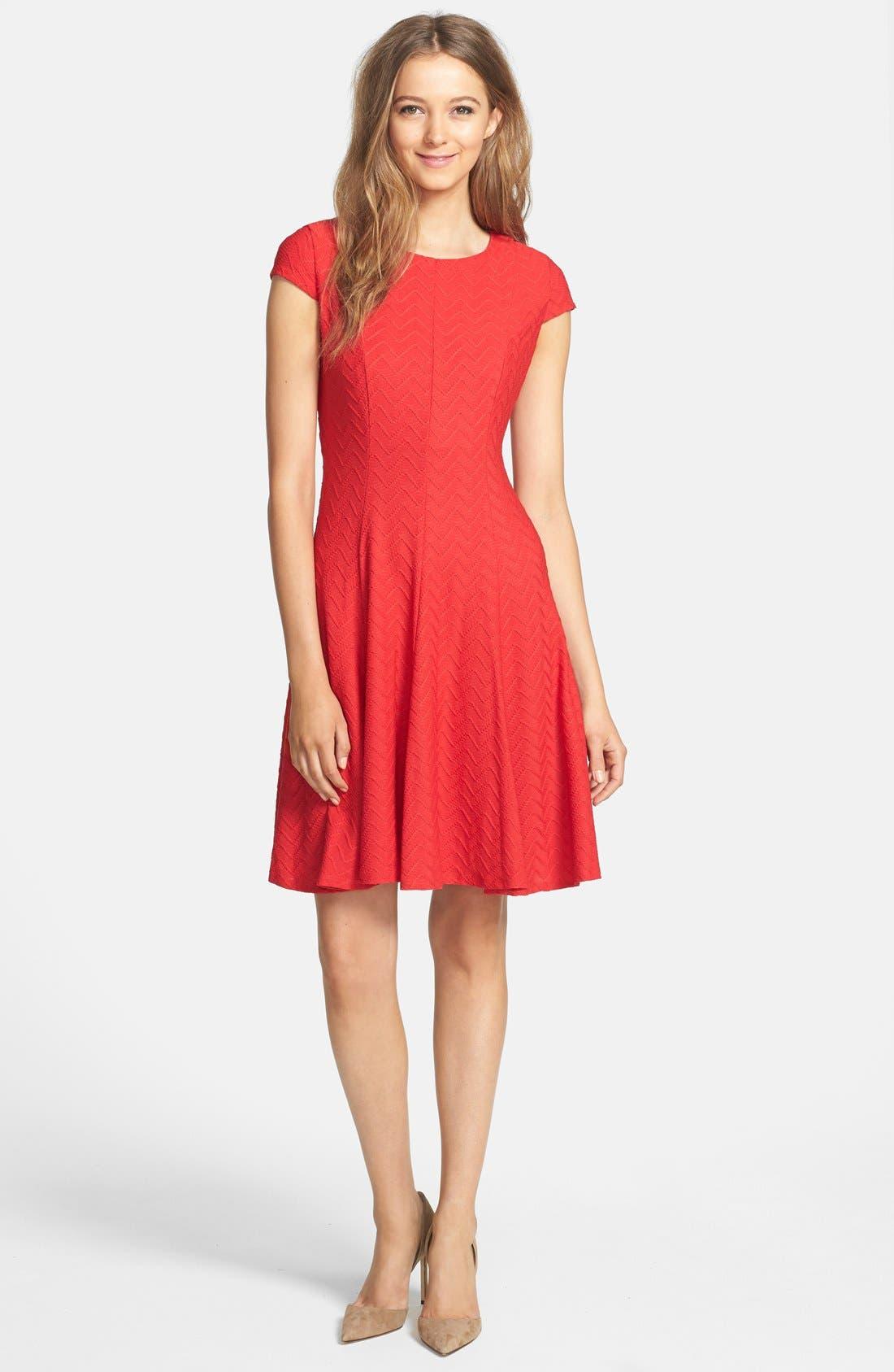 Alternate Image 3  - Eliza J Textured Knit Fit & Flare Dress (Petite)