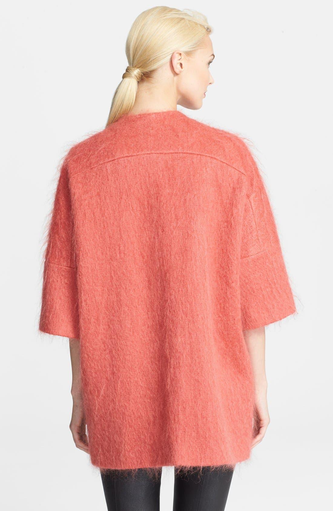 Alternate Image 2  - Helene Berman Mohair Kimono Coat