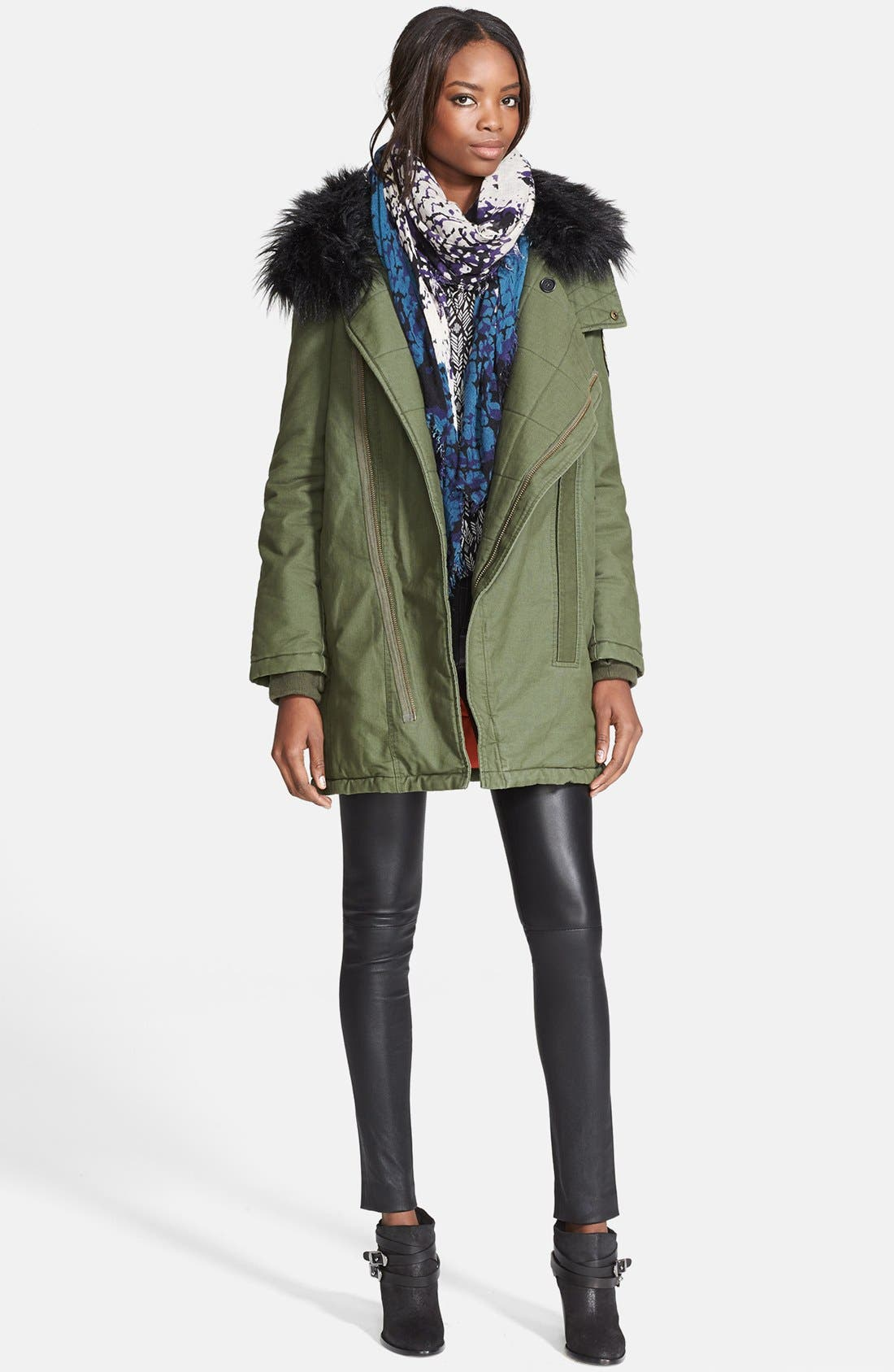 Alternate Image 3  - Zadig & Voltaire 'Kily' Faux Fur Collar Military Jacket