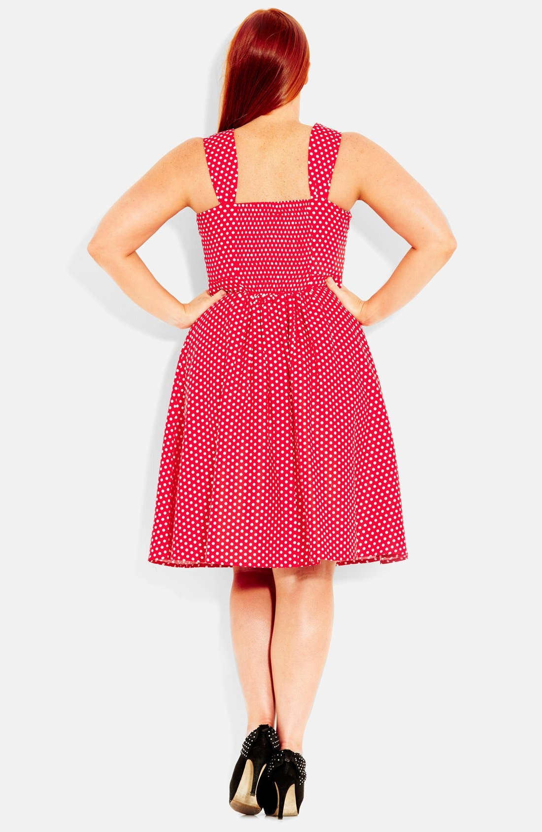 Alternate Image 2  - City Chic 'Spotty Fun' Fit & Flare Dress (Plus Size)