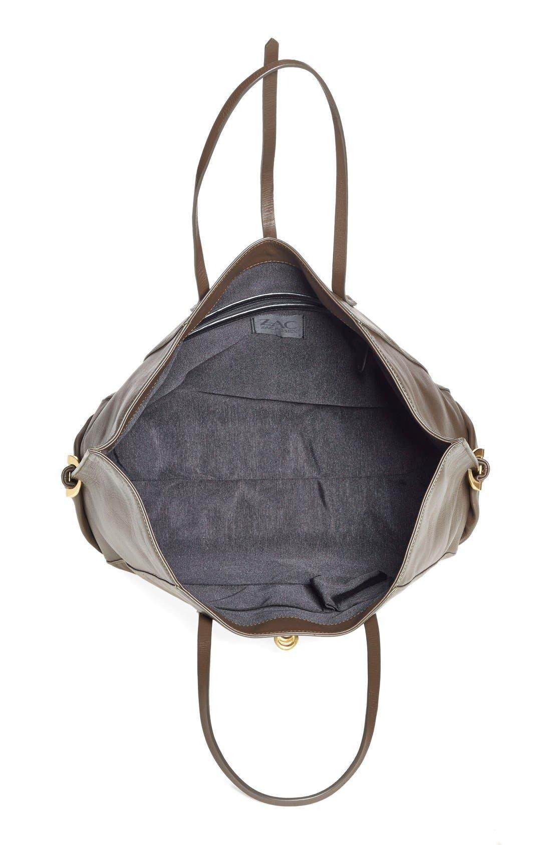 Alternate Image 3  - ZAC Zac Posen 'Eartha' Leather Shopper