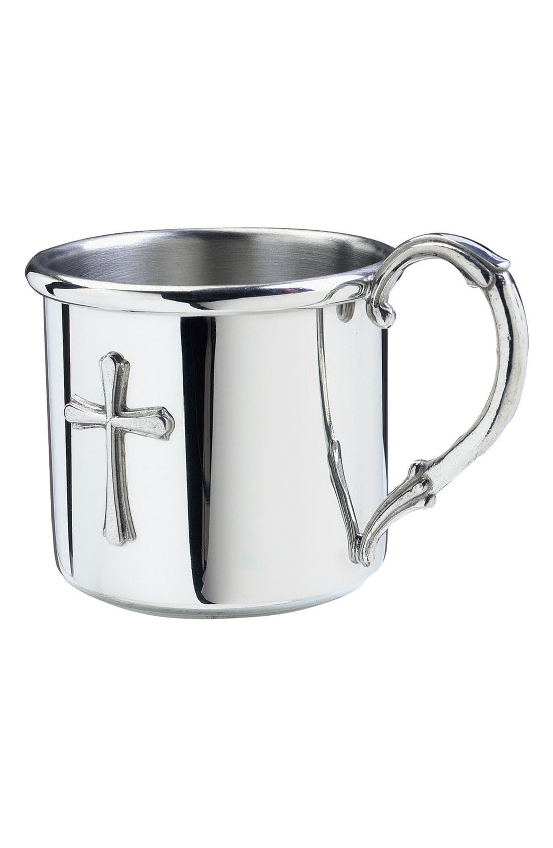 Alternate Image 1 Selected - Salisbury Pewter 'Easton - Cross' Personalized Cup
