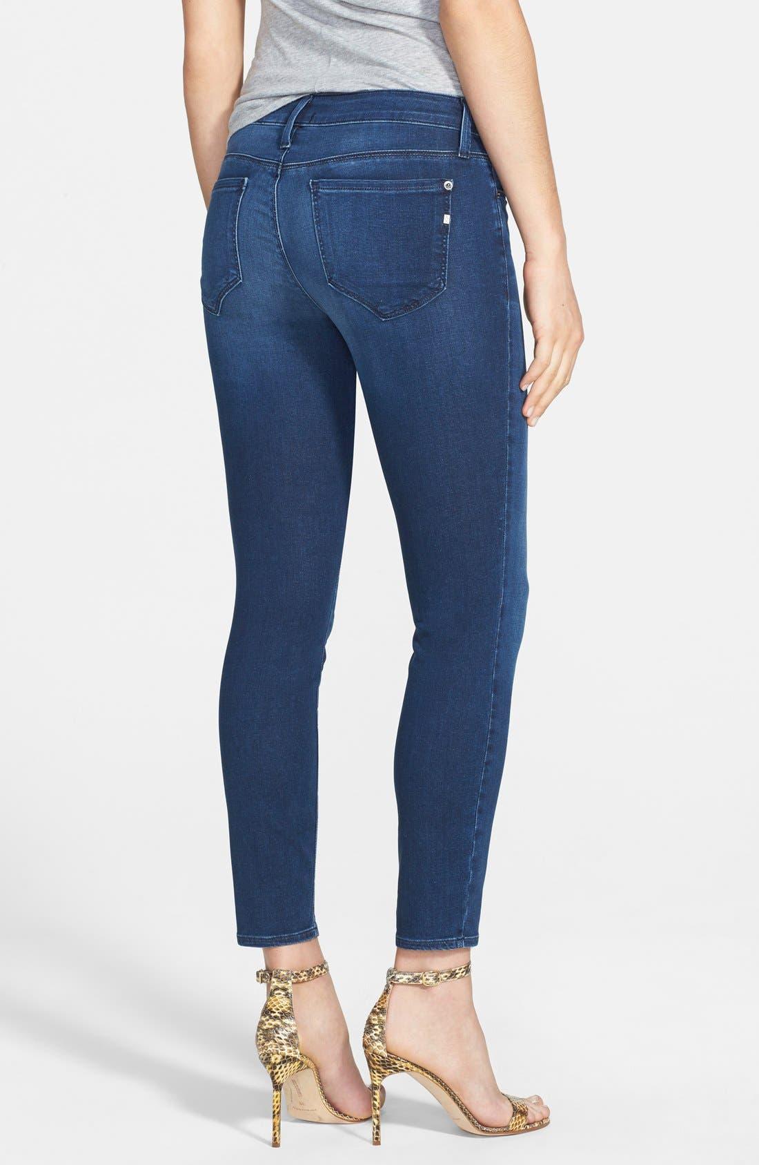 Alternate Image 2  - Genetic 'Brooke' Crop Skinny Jeans (Riot)