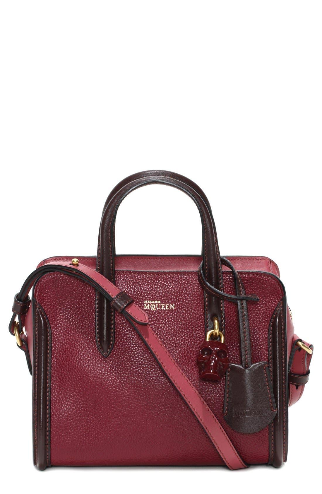 Alternate Image 1 Selected - Alexander McQueen 'Mini Padlock' Calfskin Leather Duffel Bag
