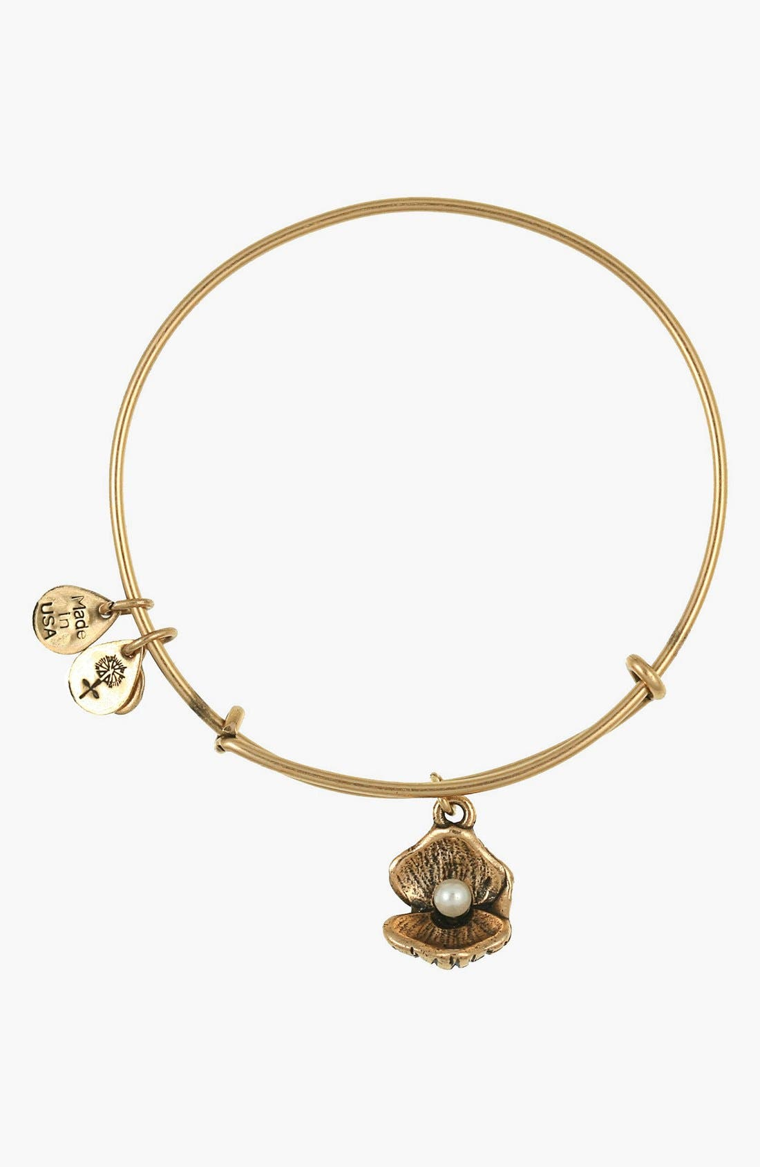 Main Image - Alex and Ani 'Oyster' Charm Expandable Bangle