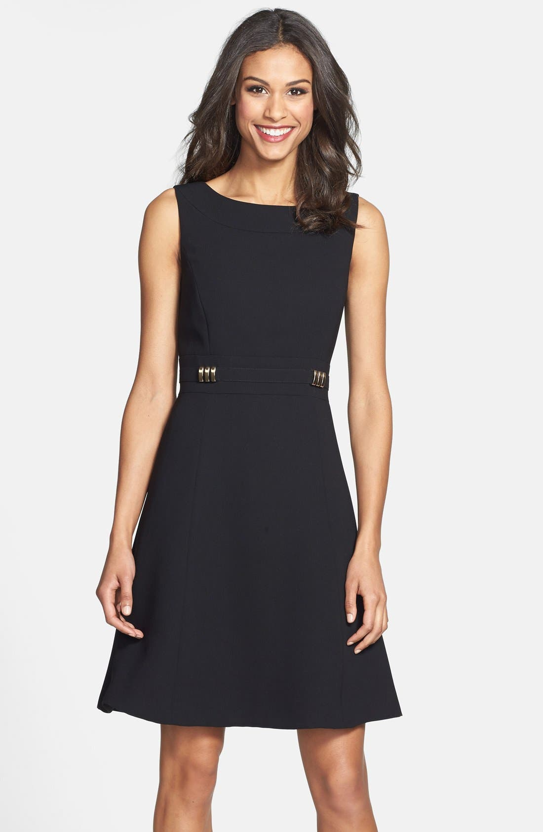 Alternate Image 1 Selected - Tahari Sleeveless Fit & Flare Dress (Online Only)