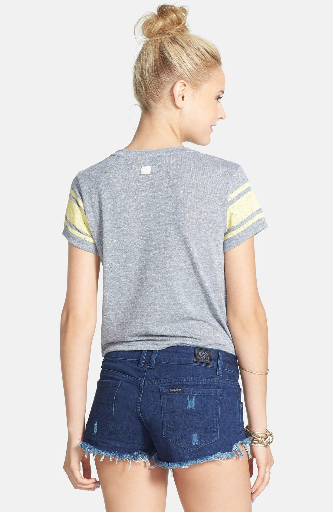 Alternate Image 2  - Rip Curl 'Cheeky' Denim Shorts (Juniors)