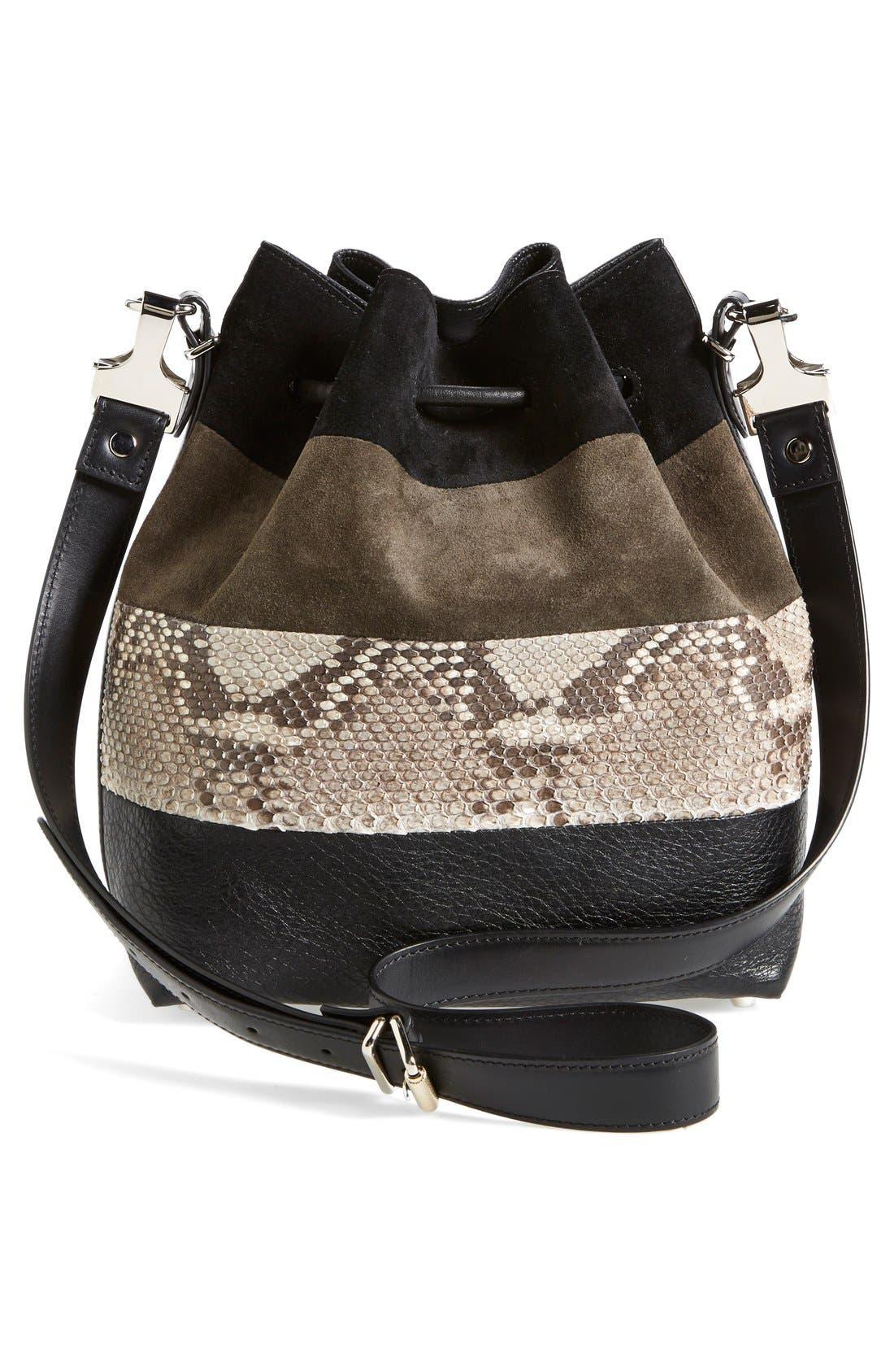 Alternate Image 3  - Proenza Schouler 'Medium' Suede & Genuine Snakeskin Bucket Bag