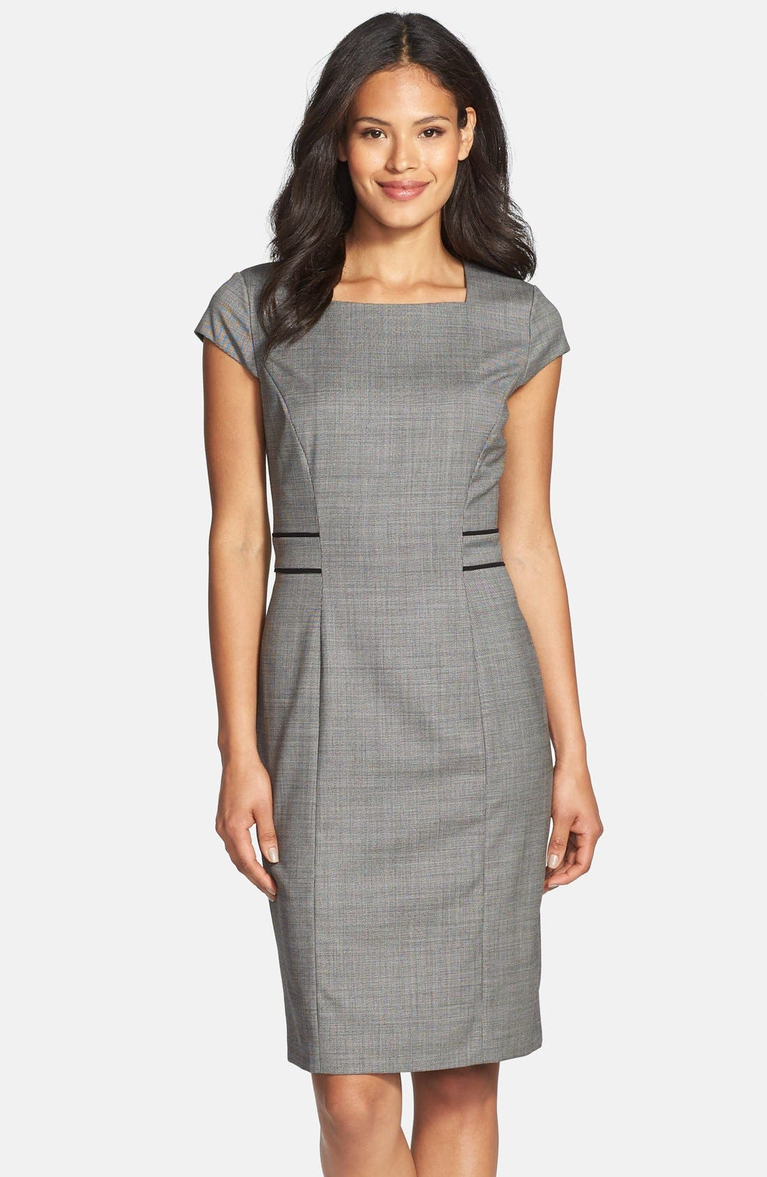Alternate Image 1 Selected - BOSS 'Dalusa' Stretch Wool Suiting Dress