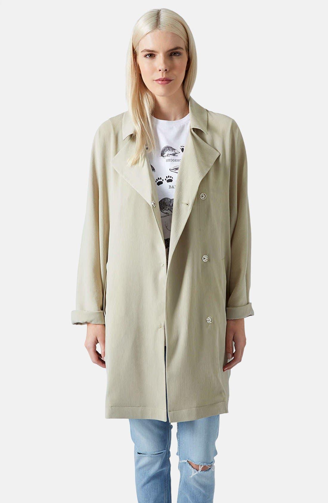 Alternate Image 1 Selected - Topshop Crinkle Duster Jacket