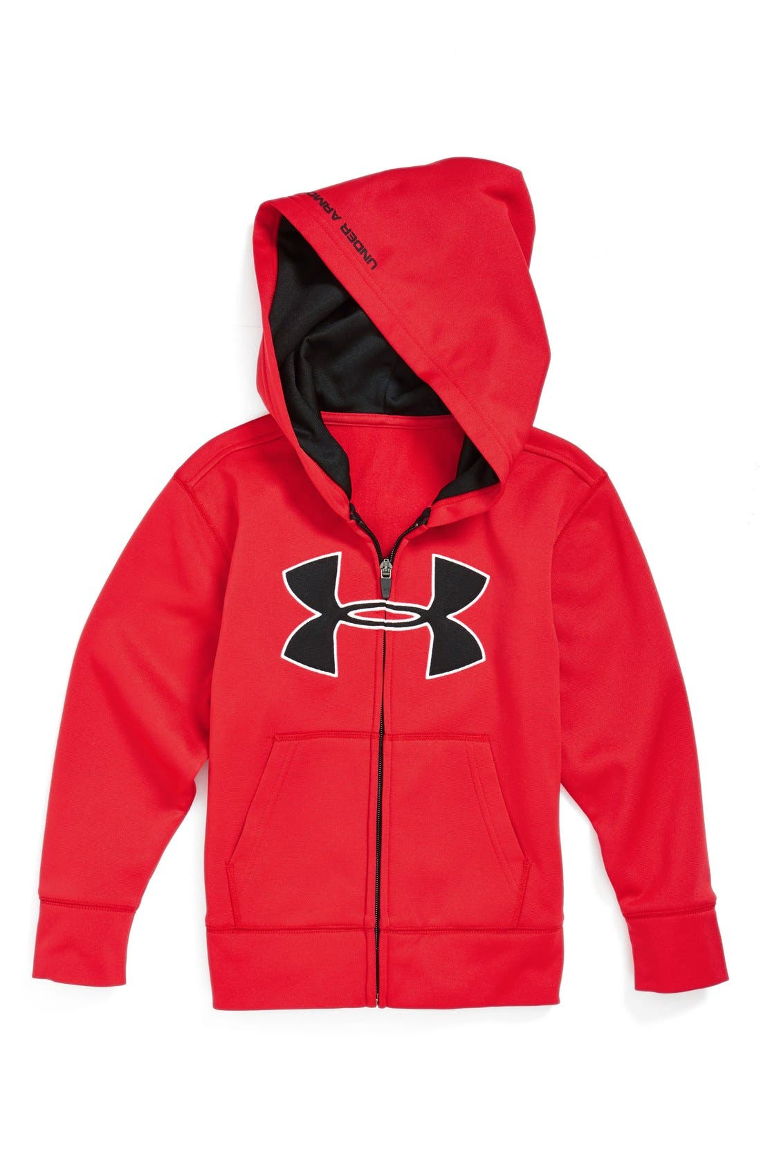 Alternate Image 1 Selected - Under Armour Warm-Up Zip Hoodie (Toddler Boys & Little Boys)