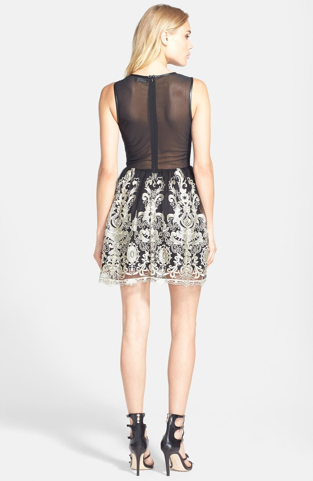 Alternate Image 2  - ASTR Embroidered Sleeveless Dress (Nordstrom Exclusive)