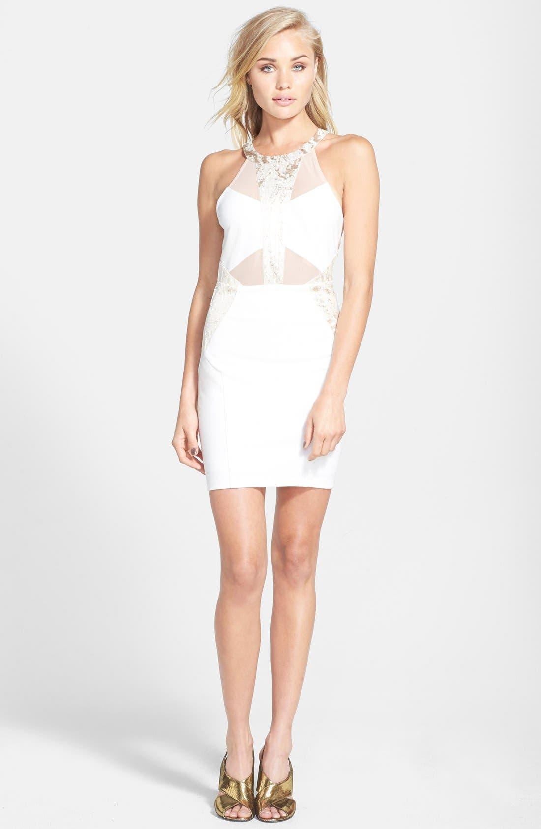 Alternate Image 1 Selected - ASTR Jacquard Body-Con Dress