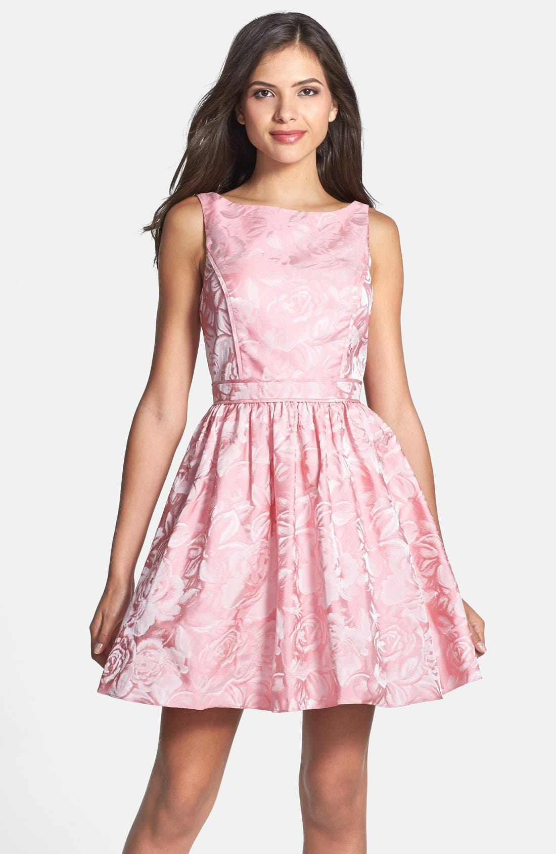 Alternate Image 1 Selected - Aidan Mattox Jacquard Fit & Flare Dress