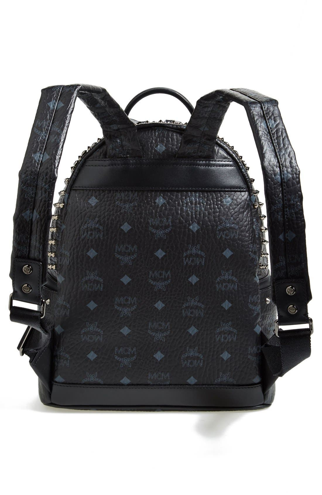 Alternate Image 4  - MCM 'Studded - Small' Coated Canvas Backpack