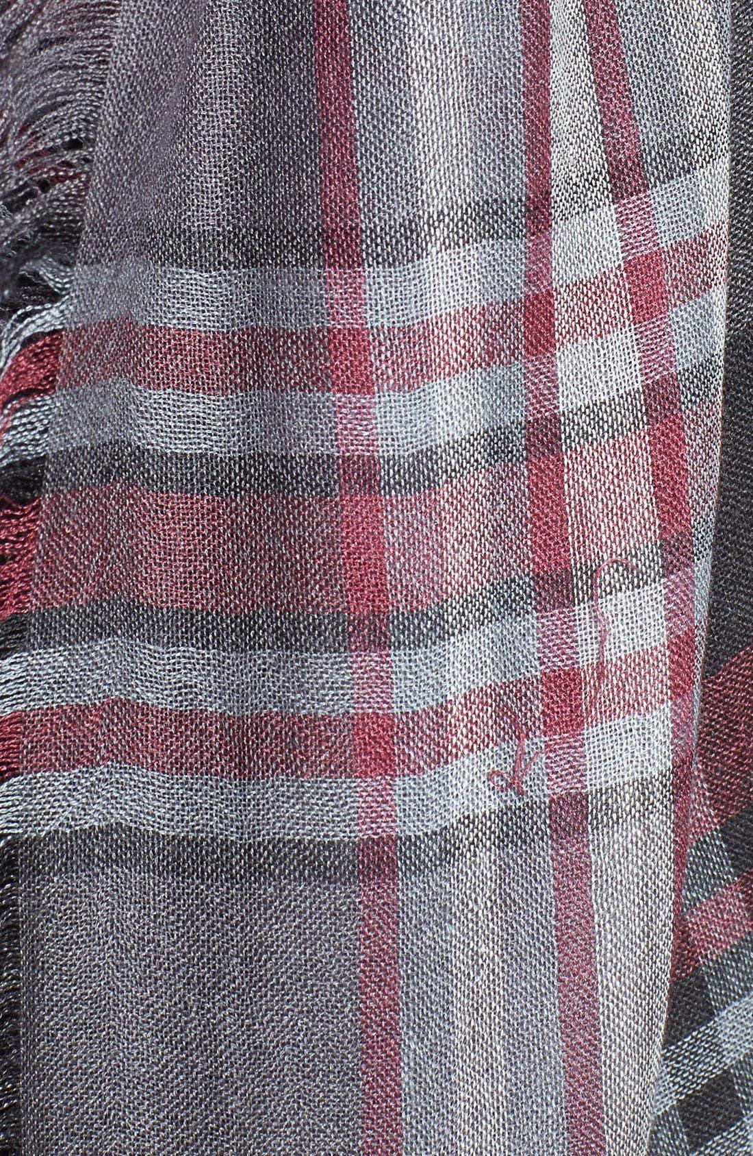 Alternate Image 3  - Nordstrom 'Heritage Plaid' Cashmere & Silk Scarf