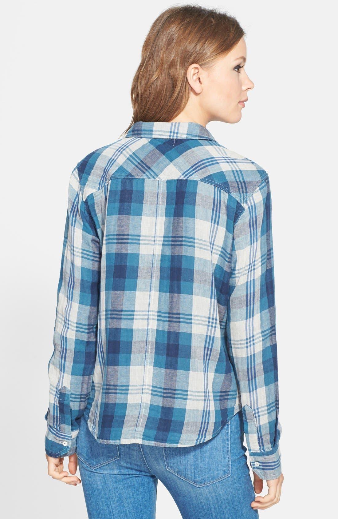 Alternate Image 2  - Velvet by Graham & Spencer Double Face Plaid Shirt