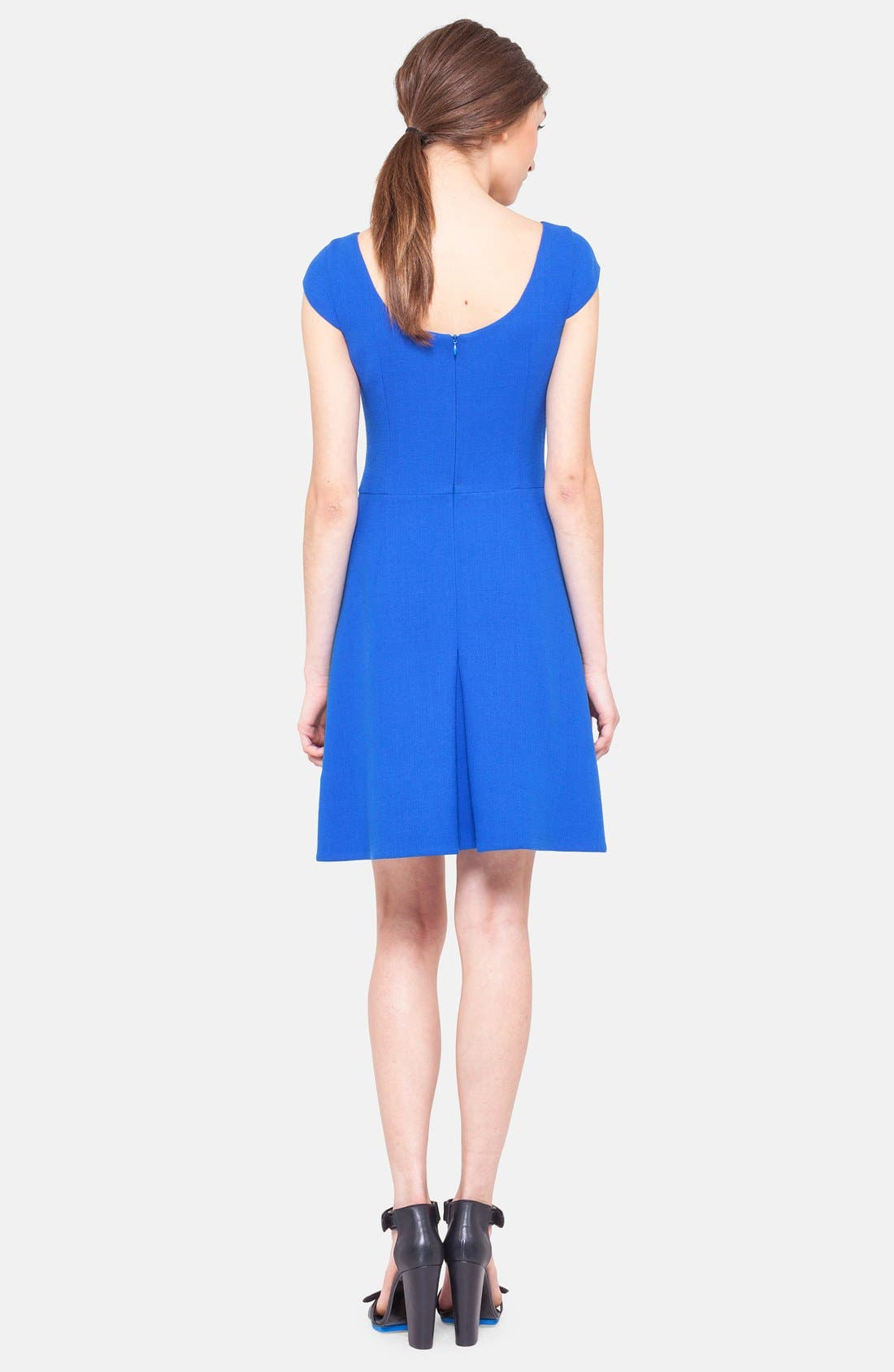 Alternate Image 2  - Akris punto Cap Sleeve Jersey Dress